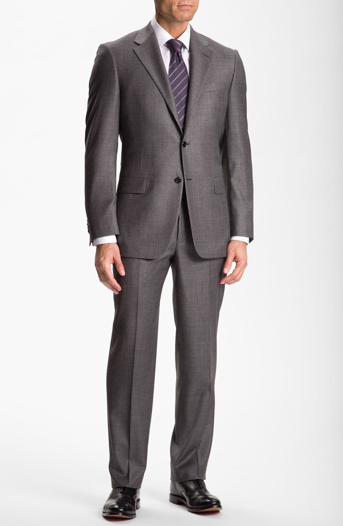 Alternate Image 2  - Hickey Freeman Solid Wool Suit