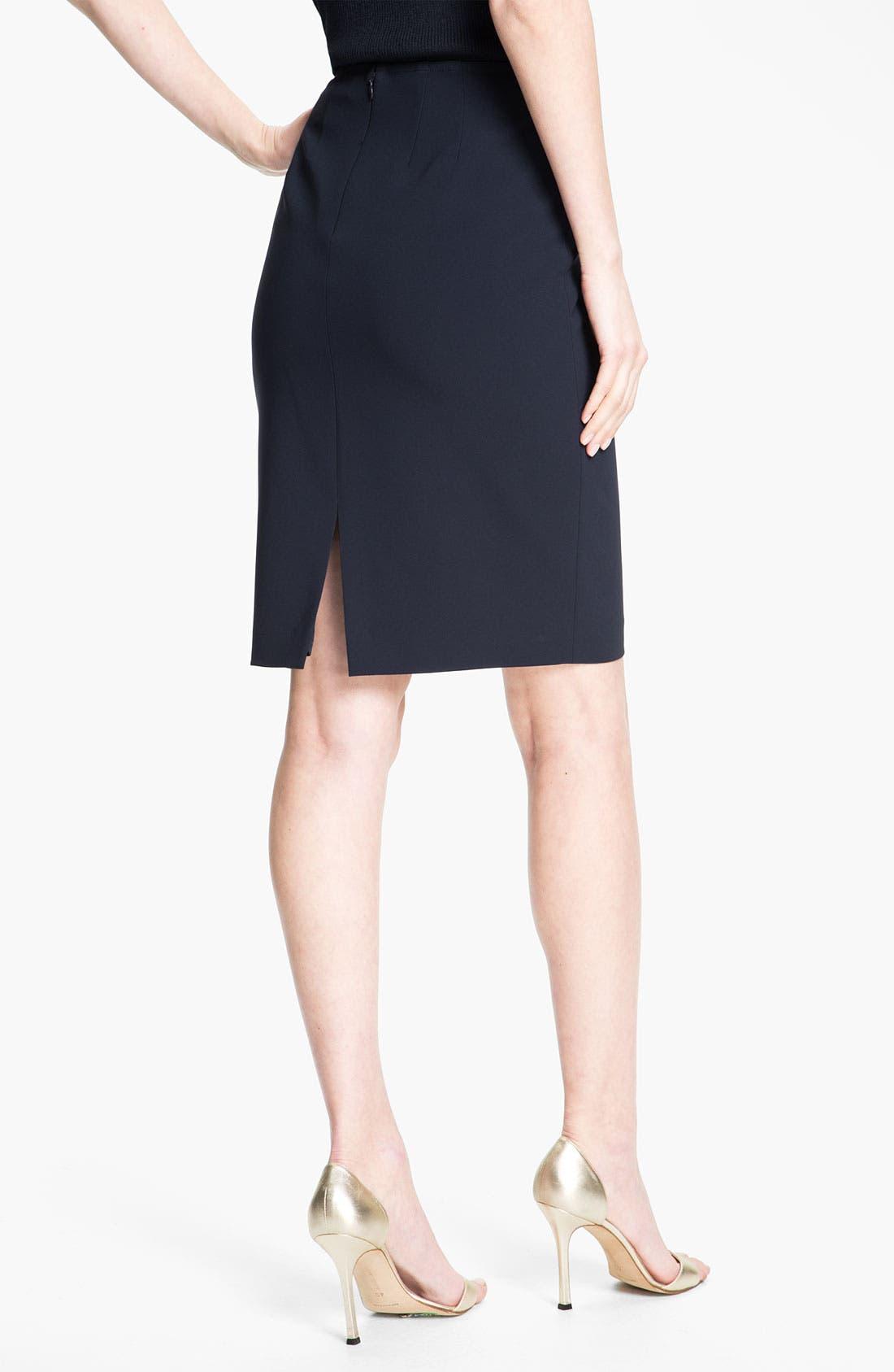 Alternate Image 2  - St. John Collection Crepe Marocain Pencil Skirt
