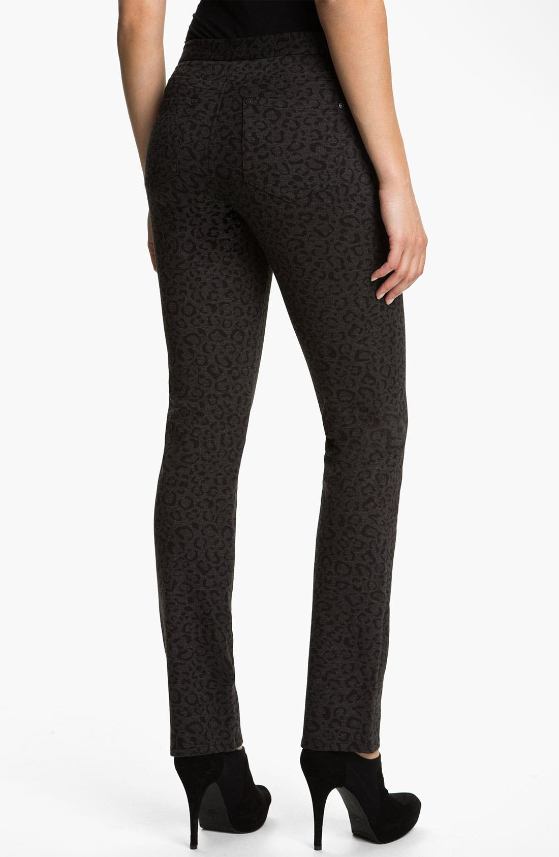 Alternate Image 2  - NYDJ 'Nancy' Skinny Animal Print Knit Pants