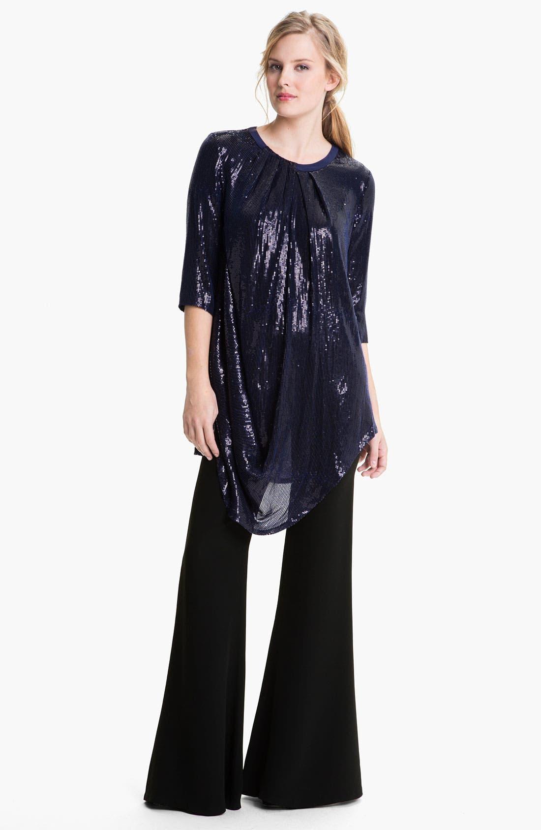 Alternate Image 4  - Lafayette 148 New York Sequin Silk Georgette Tunic