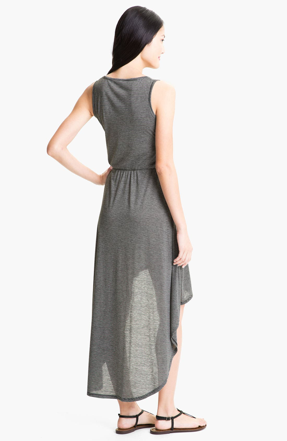 Alternate Image 2  - Loveappella High Low Maxi Dress (Petite)