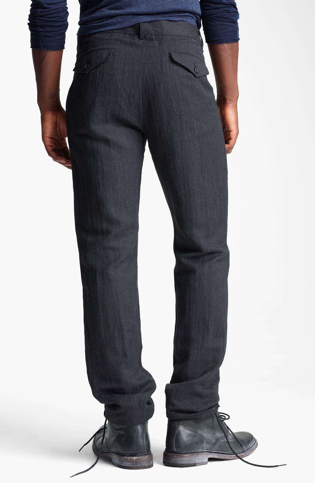 Alternate Image 2  - John Varvatos Collection Herringbone Slim Fit Pants