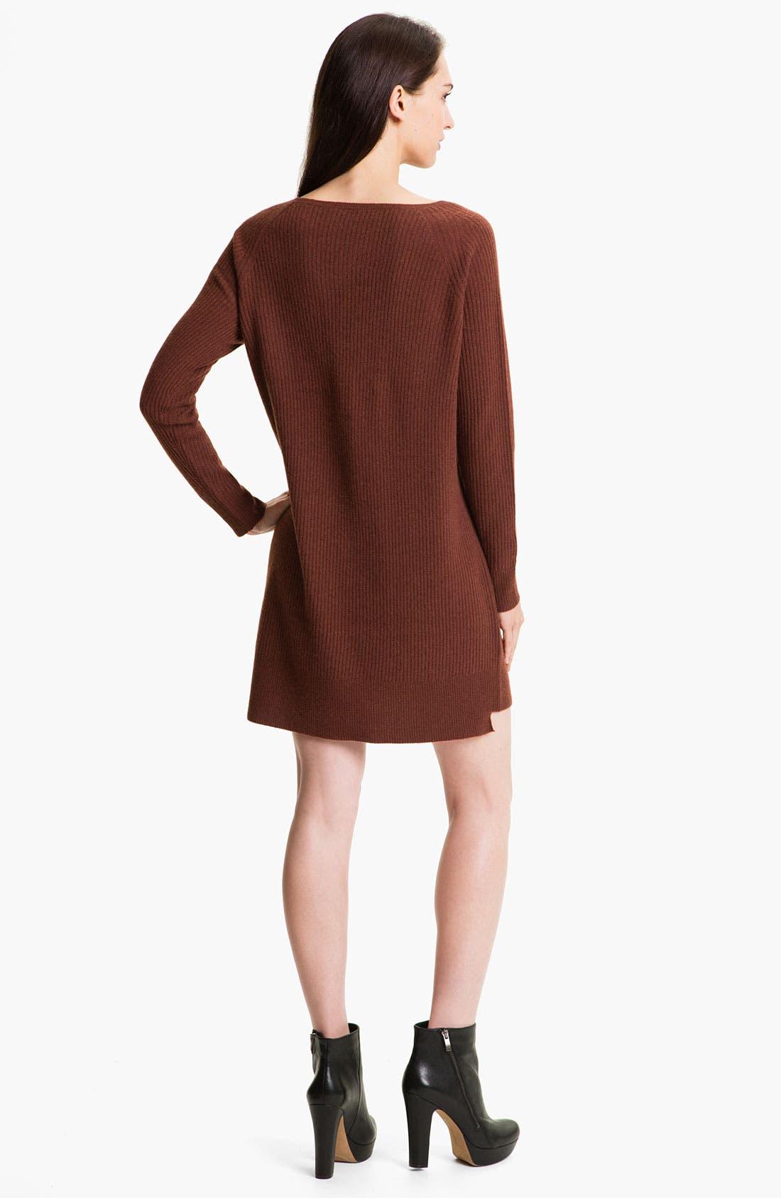 Alternate Image 2  - Vince Ribbed Sweater Dress