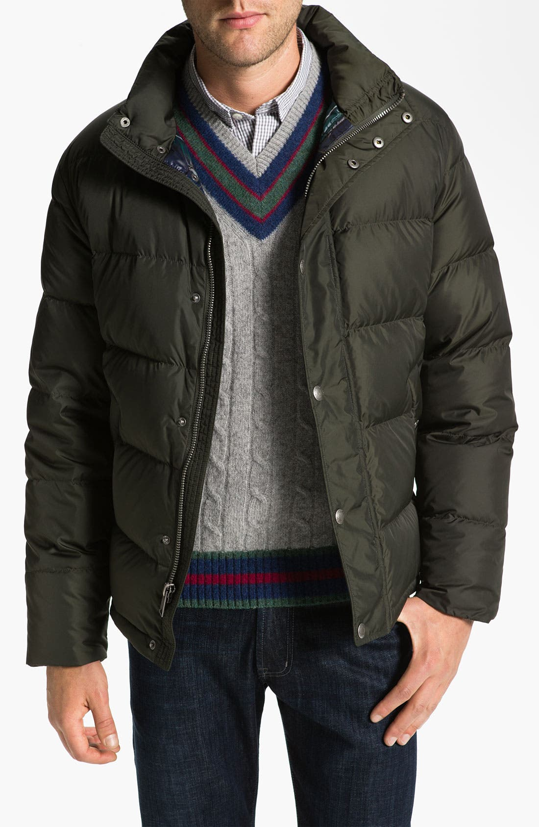 Alternate Image 1 Selected - Brooks Brothers 'University' Down Puffer Jacket