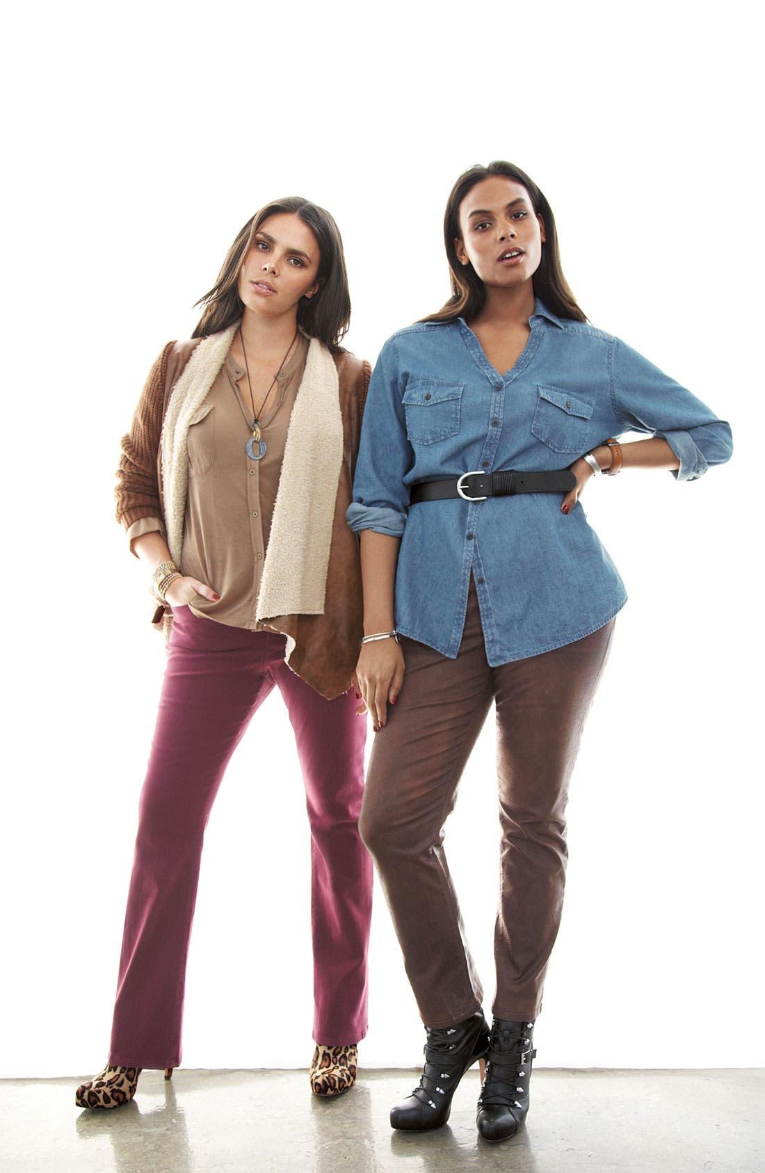 Alternate Image 4  - NYDJ 'Sheri' Skinny Terra Hide Jeans (Plus)