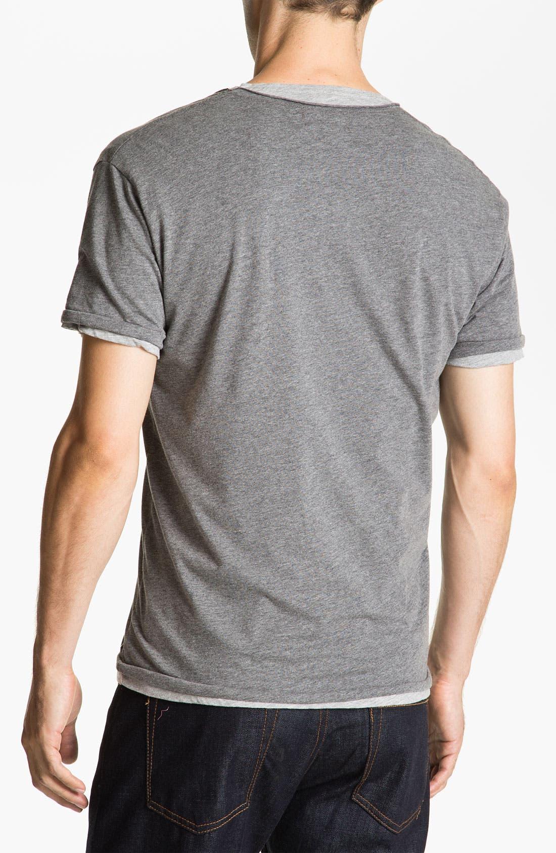 Alternate Image 2  - Scotch & Soda Double Layer V-Neck T-Shirt