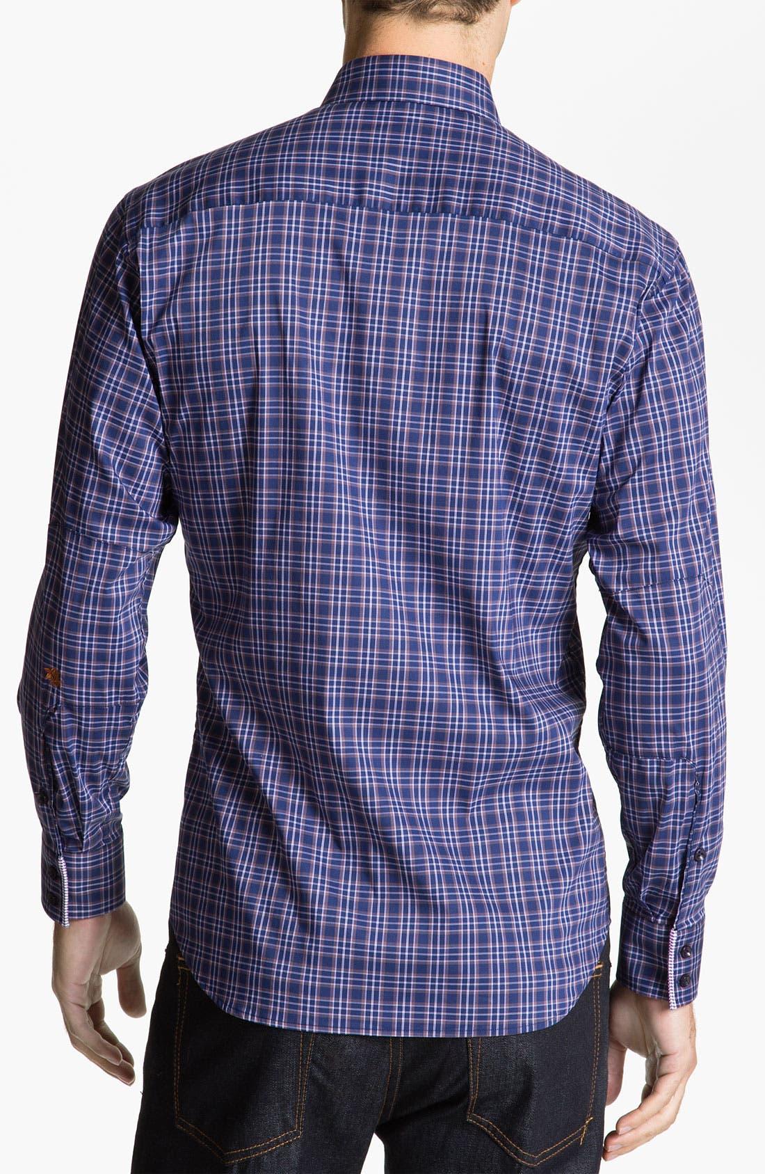 Alternate Image 2  - Stone Rose Check Woven Shirt