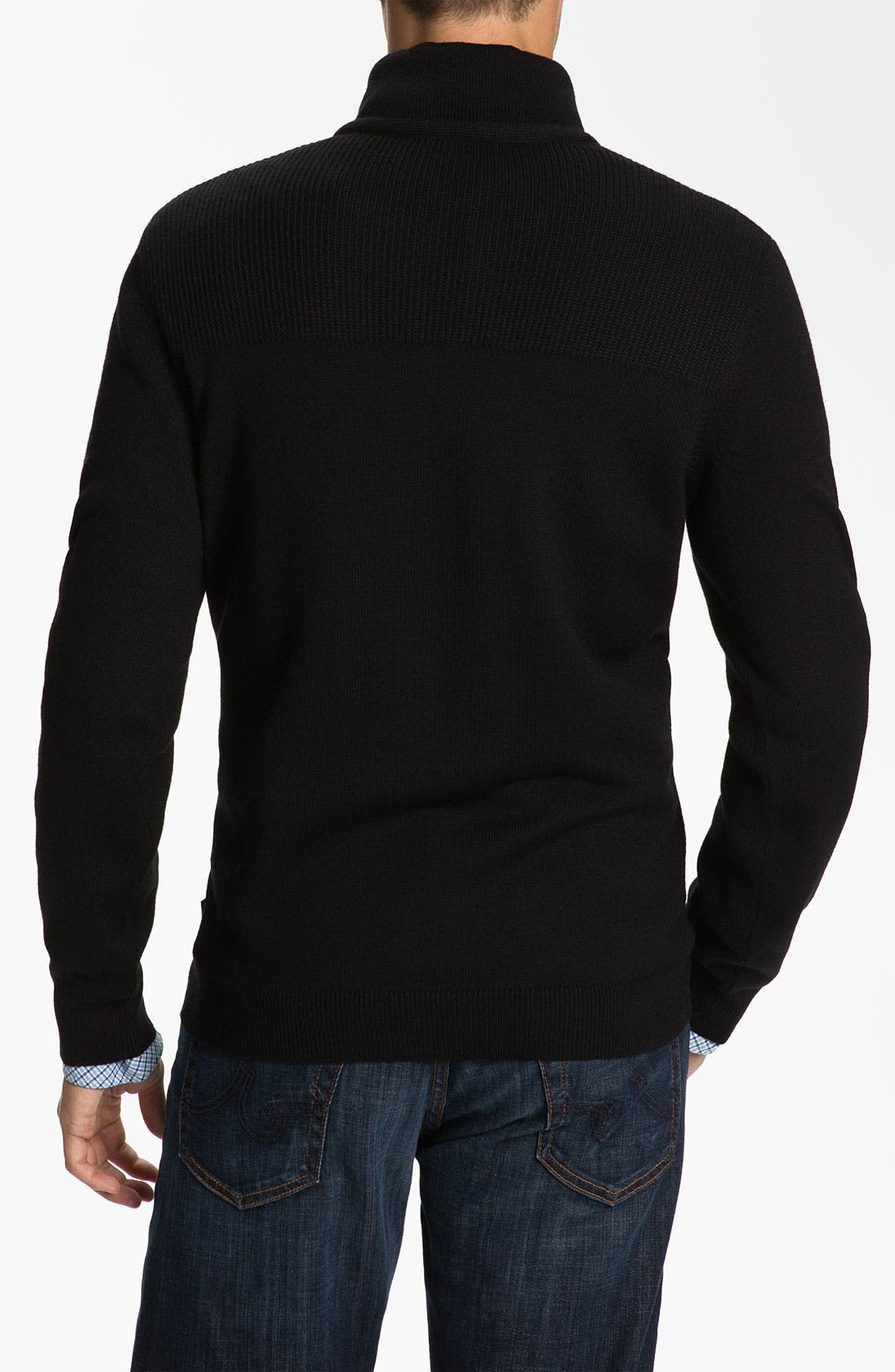 Alternate Image 2  - BOSS Black 'Lancelot' Slim Fit Mock Neck Wool Sweater
