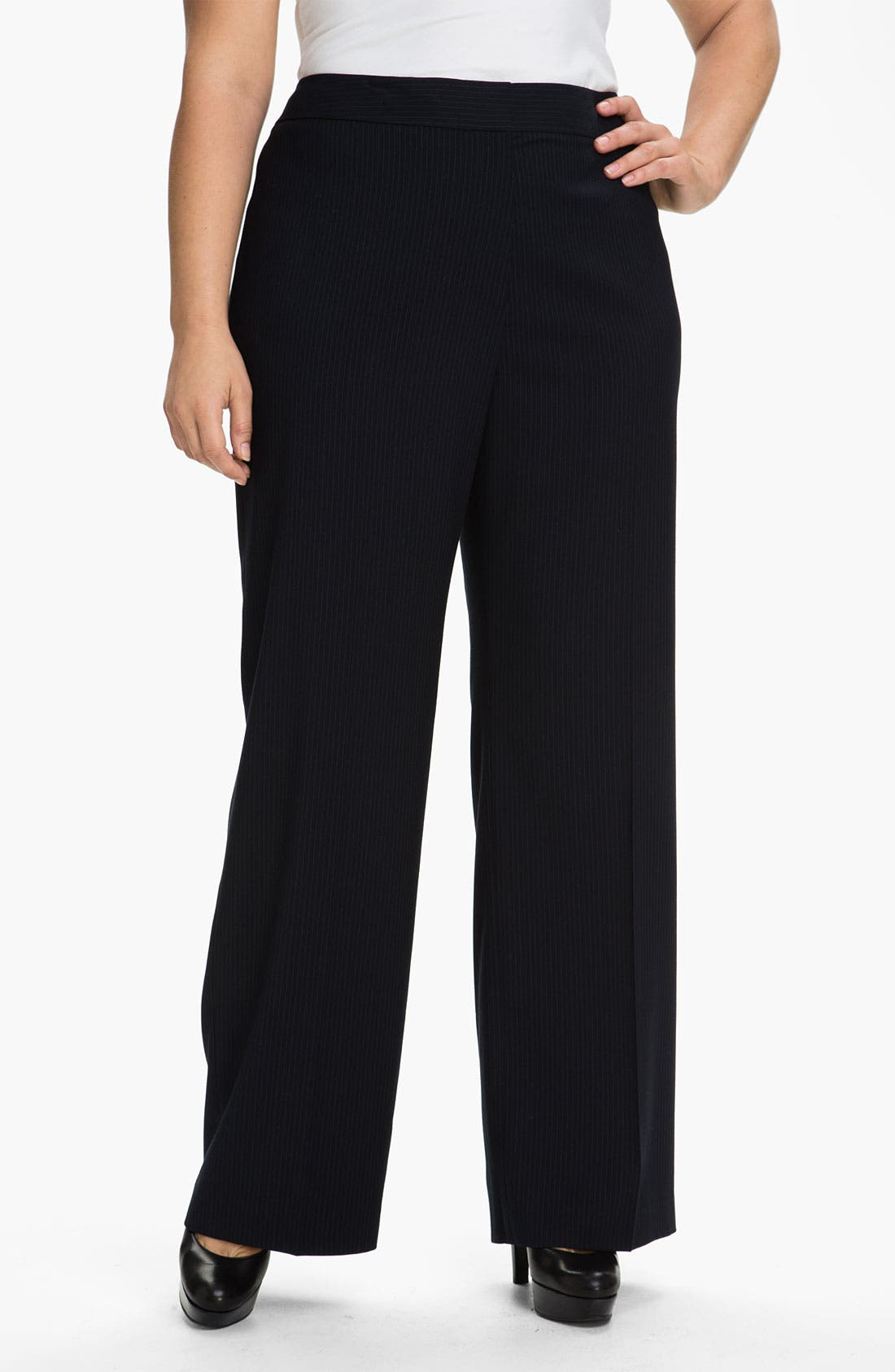 Alternate Image 1 Selected - Tahari Woman 'Hazel' Straight Leg Pants (Plus)