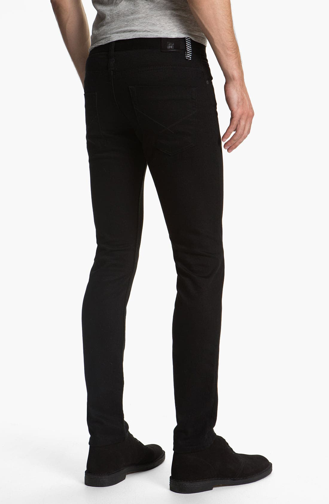 Alternate Image 1 Selected - Insight 'City Riot' Slim Straight Leg Jeans (Double Black Rinse)