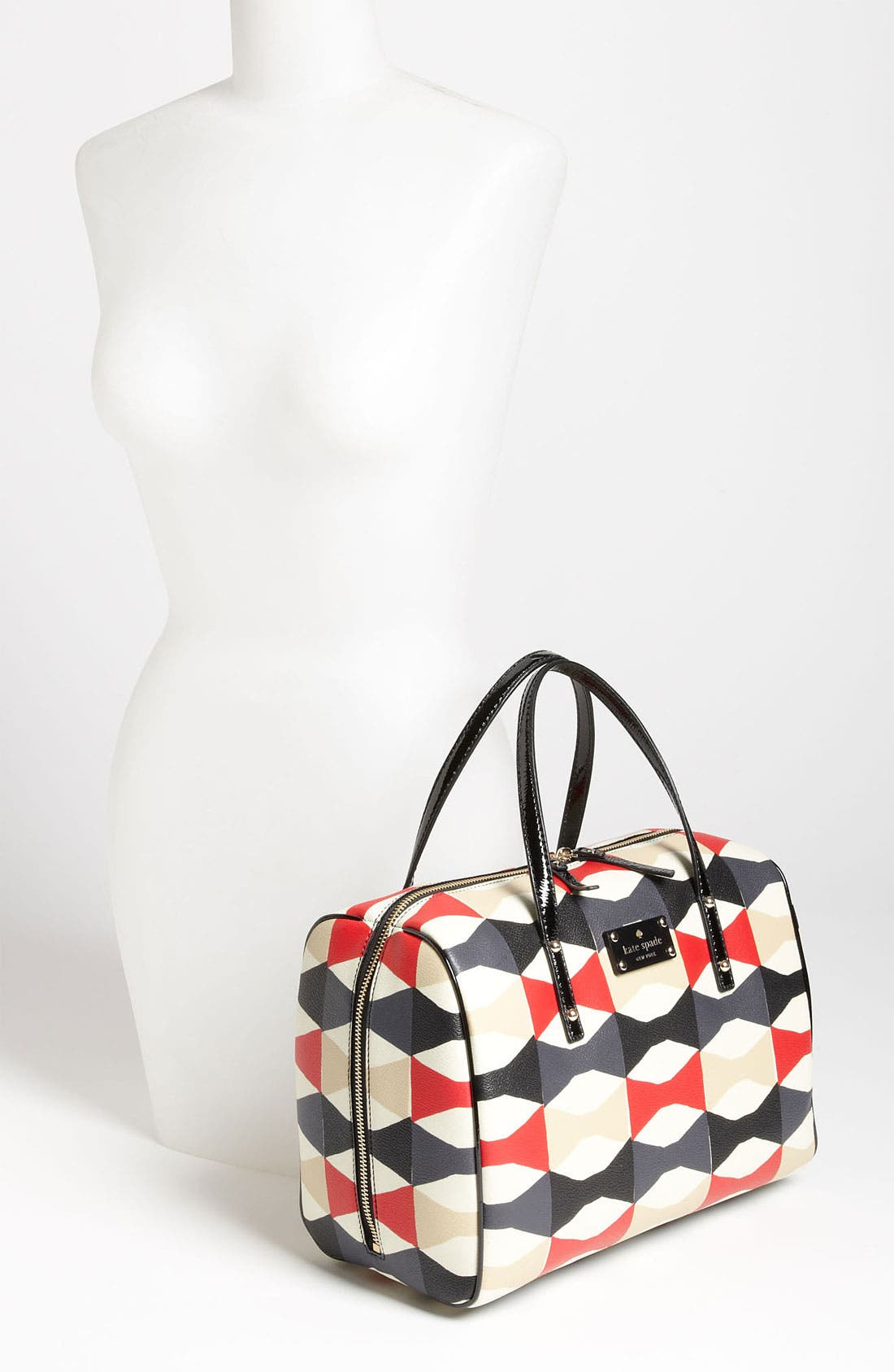 Alternate Image 2  - kate spade new york 'abstract signature bow - shawna' satchel