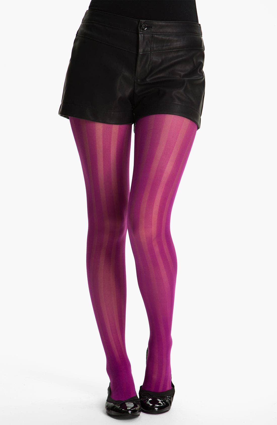 Alternate Image 1 Selected - Frenchi® Stripe Tights (Juniors)