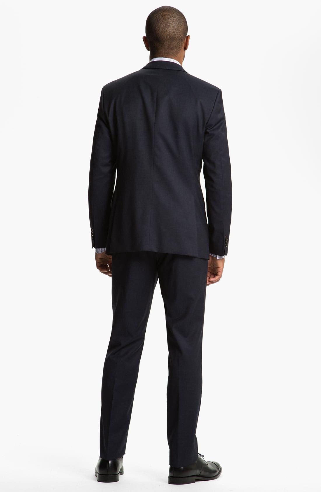 Alternate Image 4  - BOSS Black Slim Fit Dress Shirt