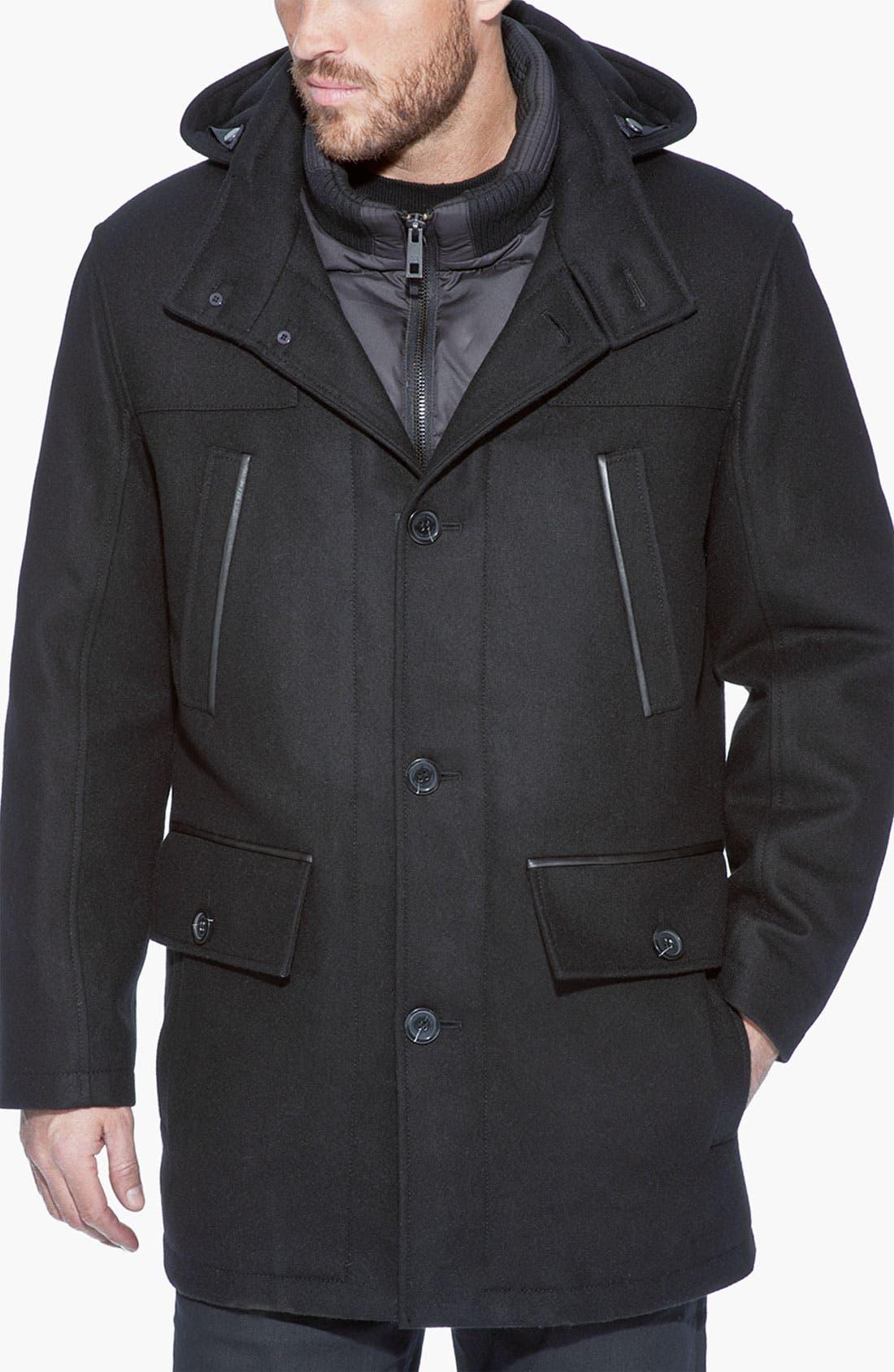 Alternate Image 1 Selected - Andrew Marc 'Weber' Water Resistant Wool Blend Jacket