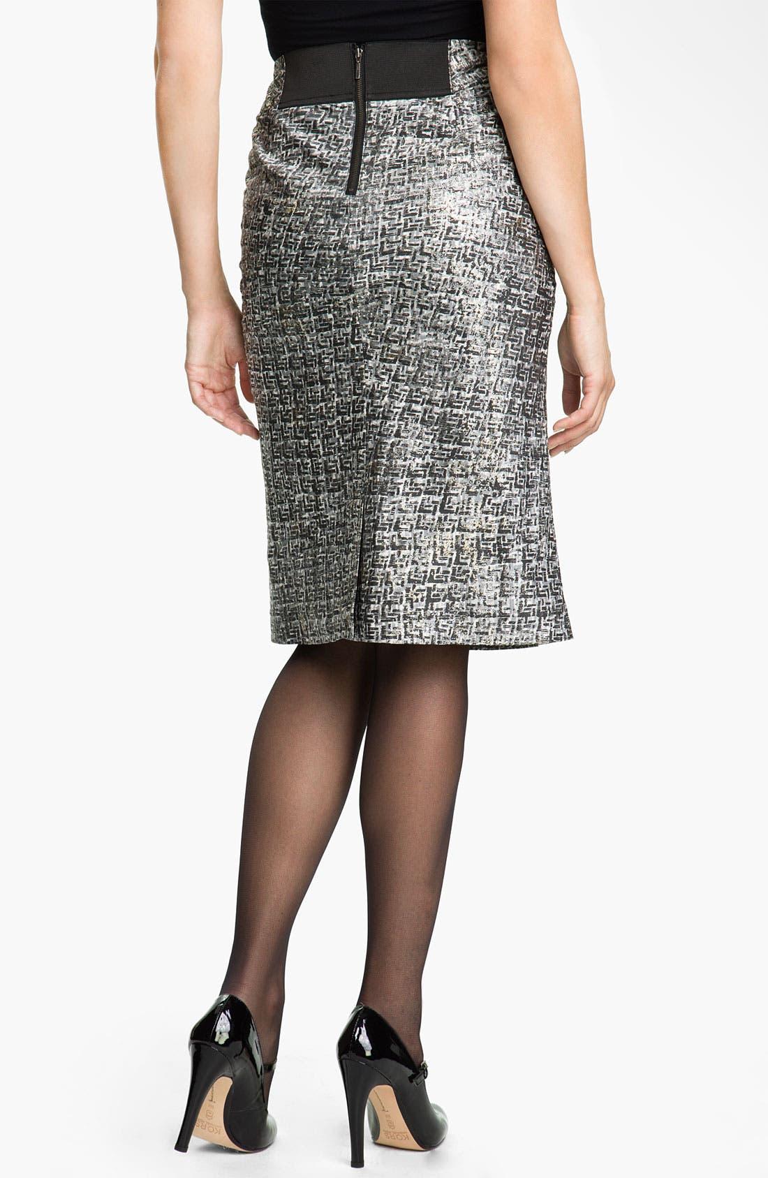 Alternate Image 2  - Nic + Zoe Glitter Print Pencil Skirt