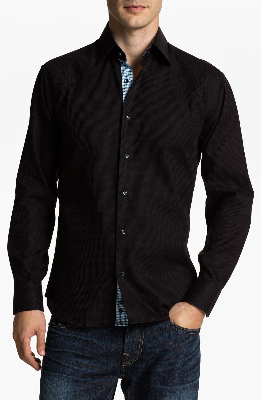Main Image - Stone Rose 'Black Rivet' Woven Shirt