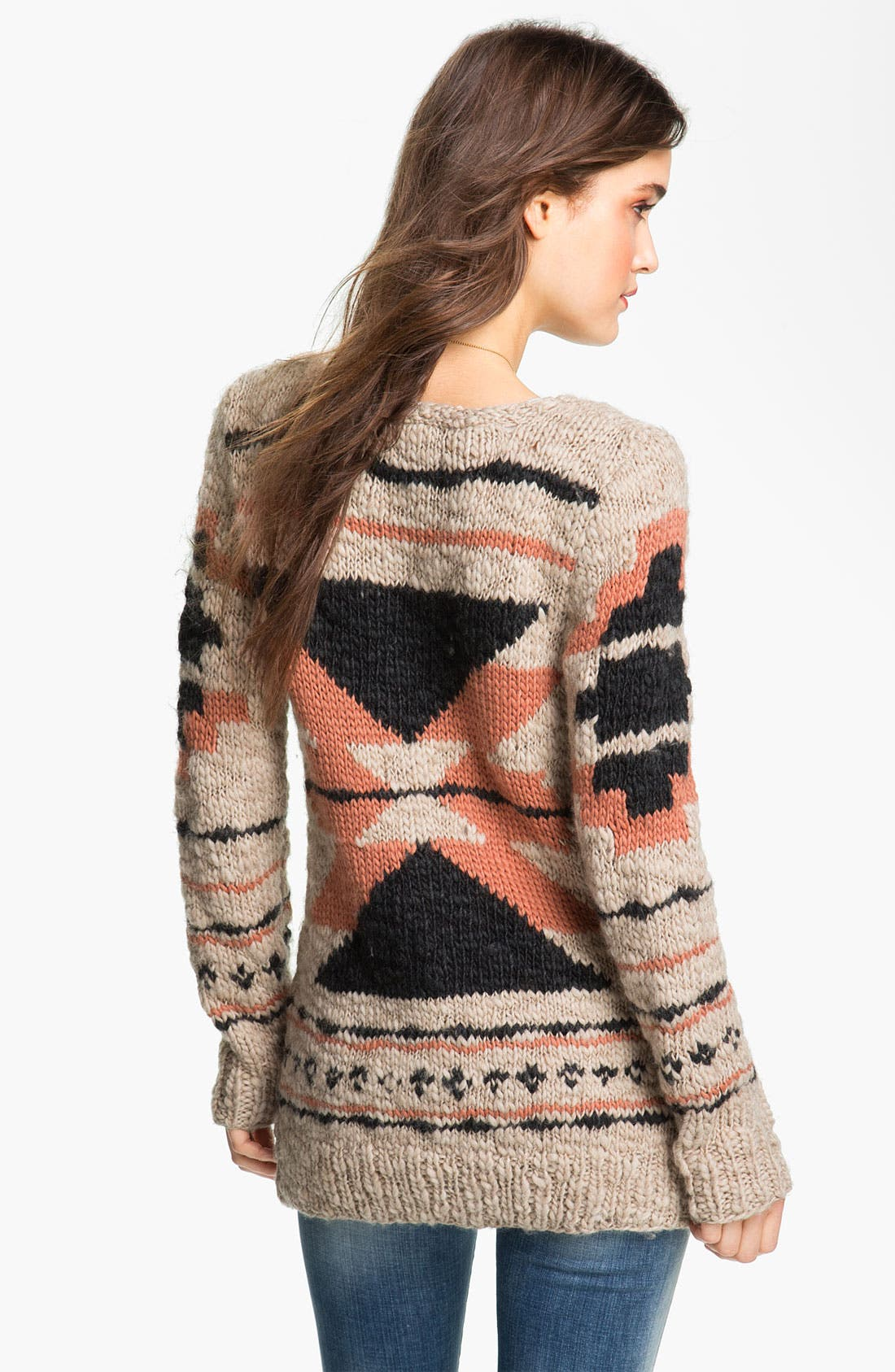Alternate Image 2  - Maison Scotch Chunky Southwestern Cardigan