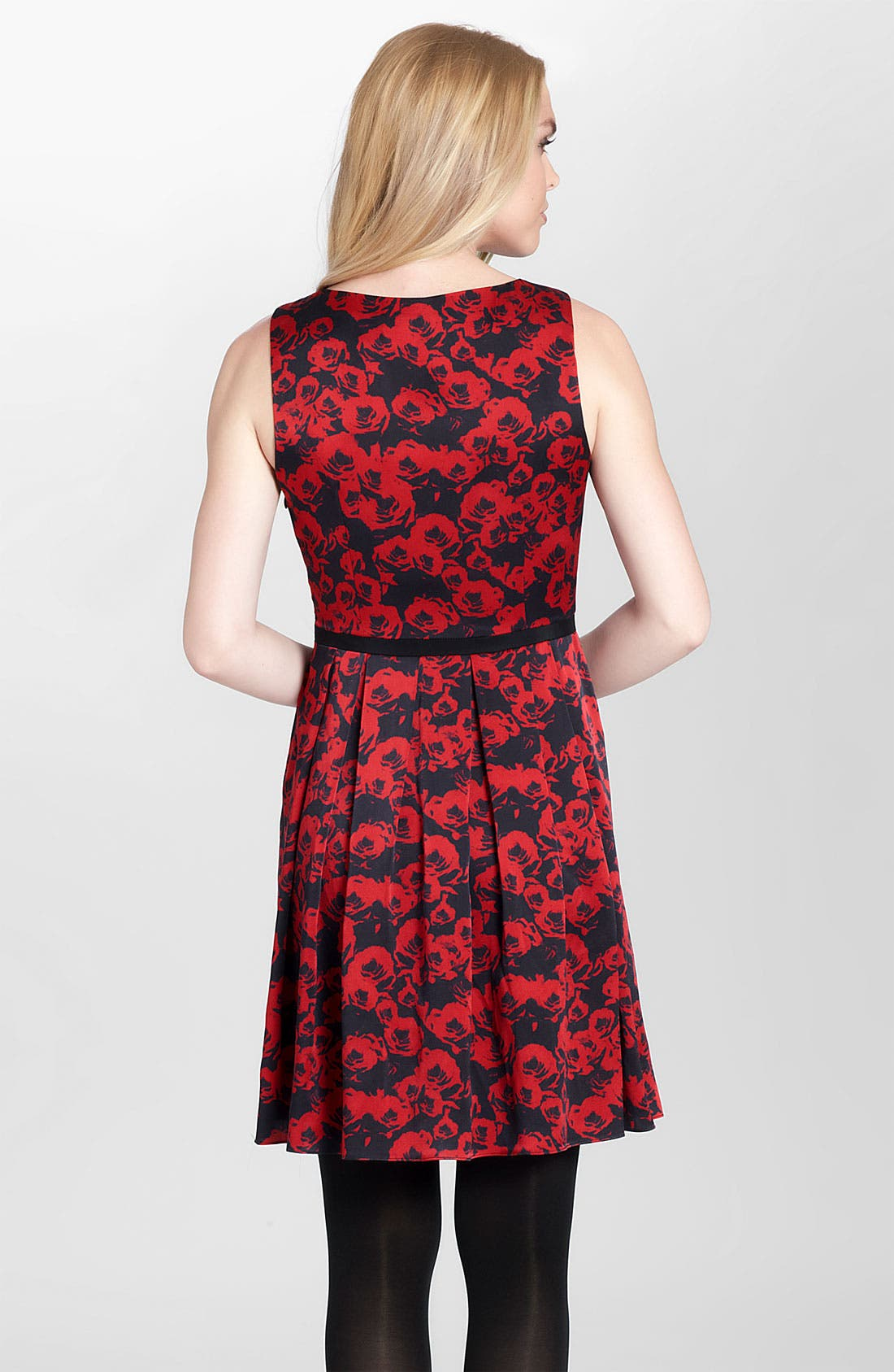 Alternate Image 2  - Cynthia Steffe 'Cadence' Print Pleated Fit & Flare Dress