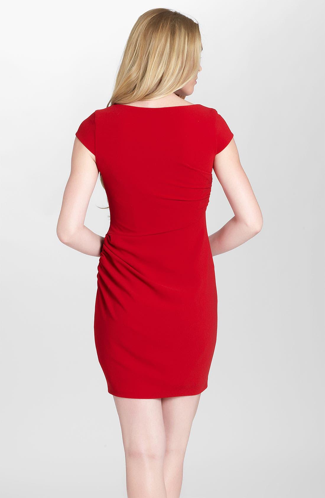Alternate Image 2  - Cynthia Steffe 'Paris' Shirred Crepe Sheath Dress