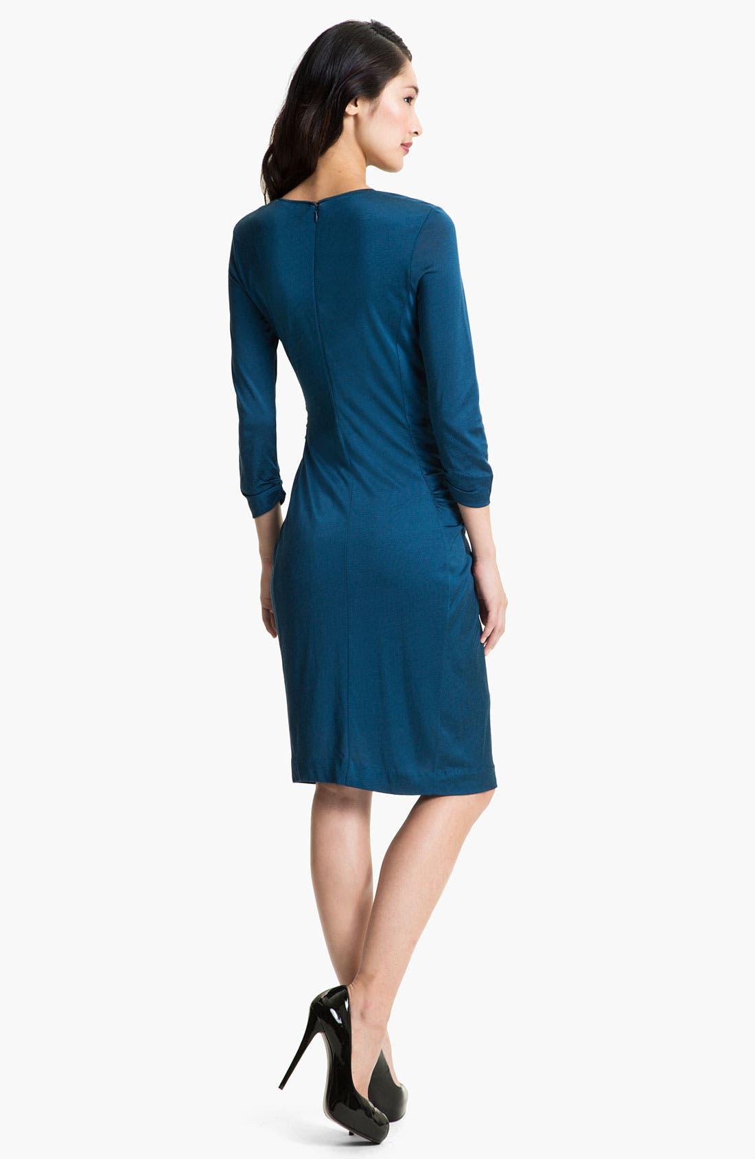 Alternate Image 2  - BOSS Black Pleat Front Dress