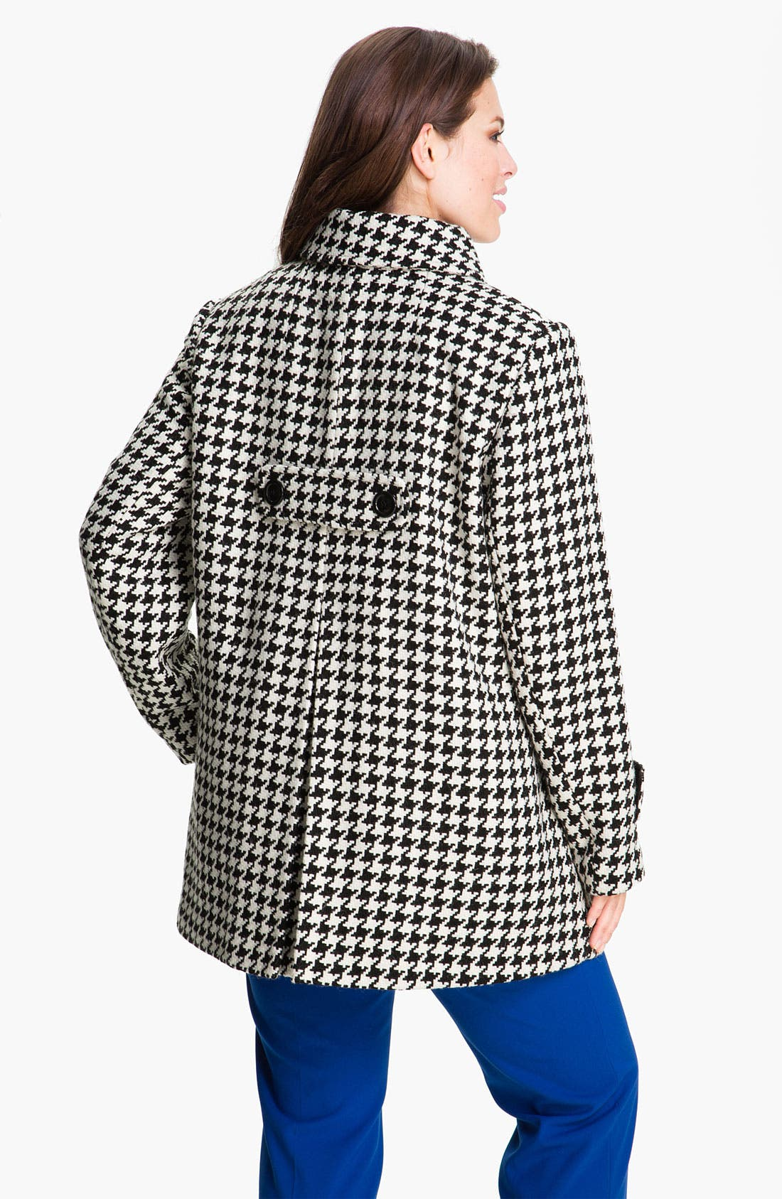 Alternate Image 2  - Gallery Single Breasted Houndstooth Coat (Plus) (Online Exclusive)