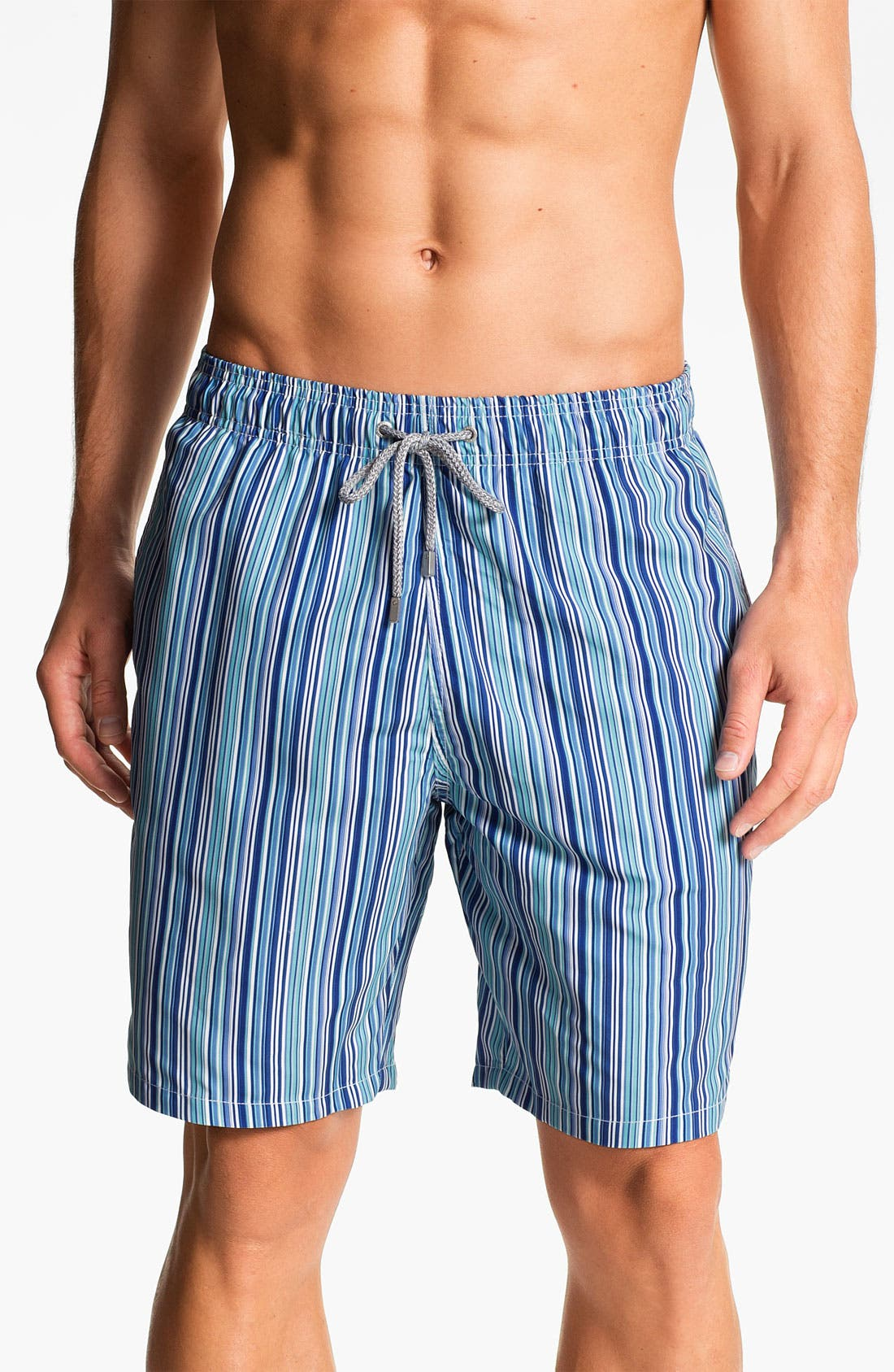Alternate Image 1 Selected - Bugatchi Uomo Stripe Board Shorts