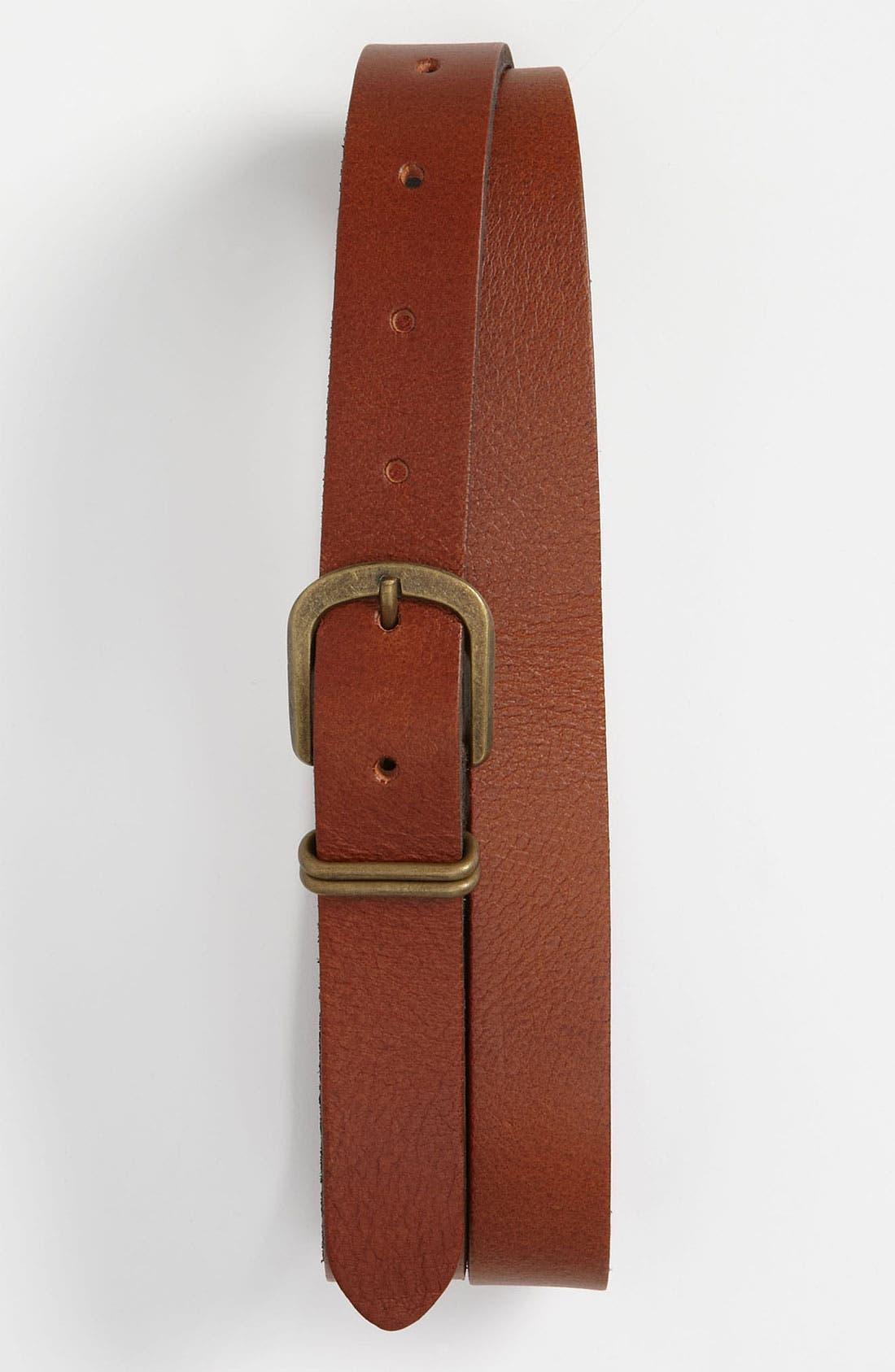 Alternate Image 1 Selected - Topman 'Best Tom' Leather Belt