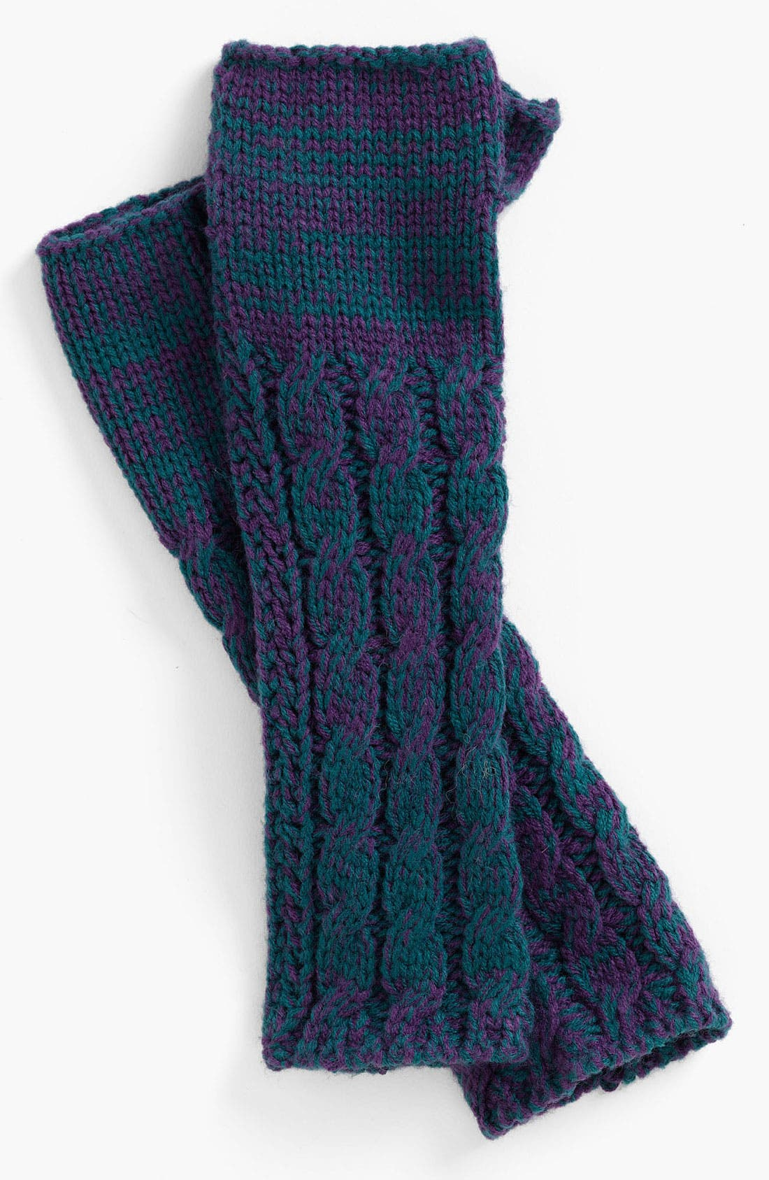 Main Image - Lulu Cabled Fingerless Gloves