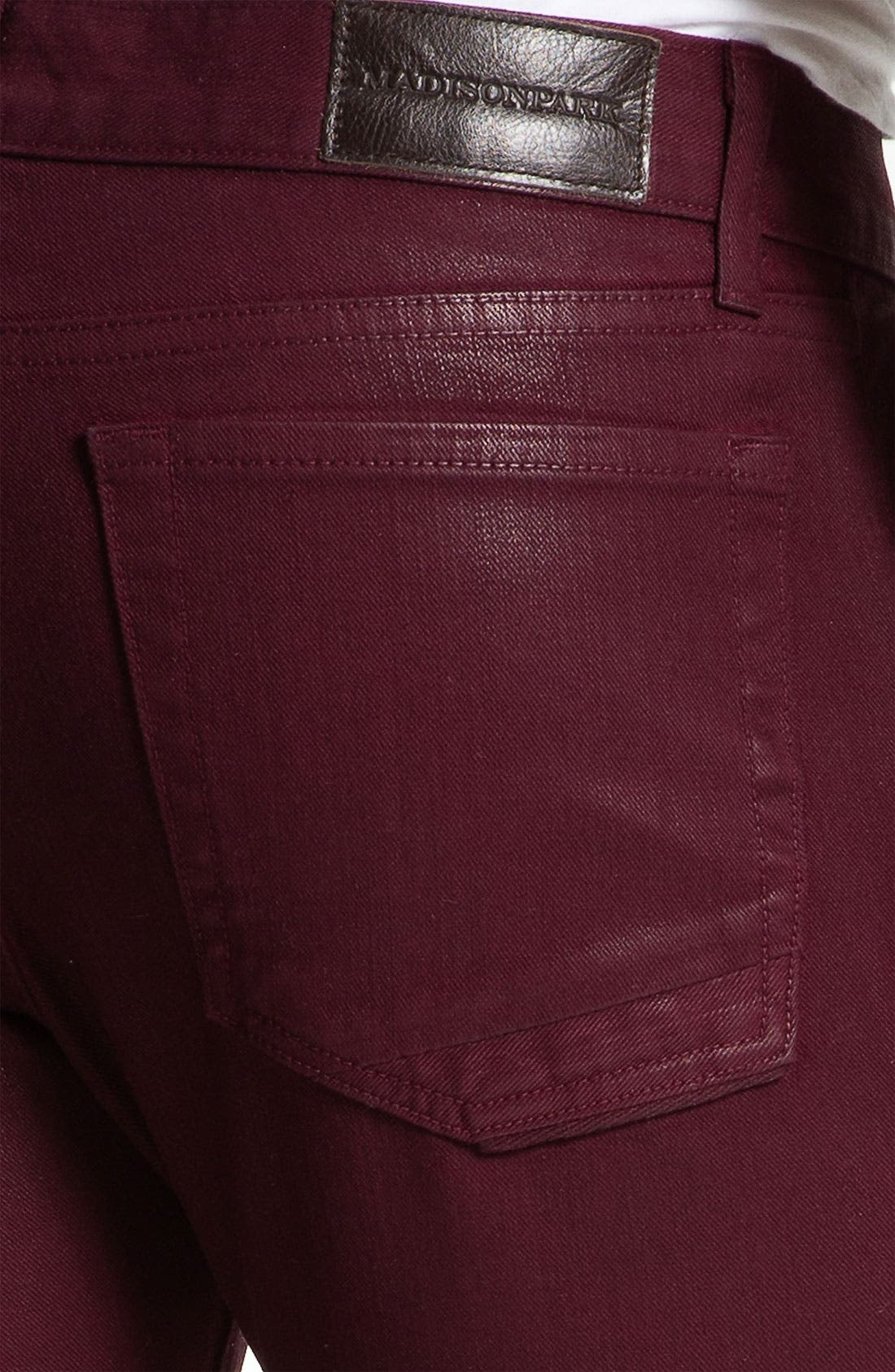 Alternate Image 3  - Madisonpark Collective 'Miles' Slim Straight Leg Jeans (Merlot)
