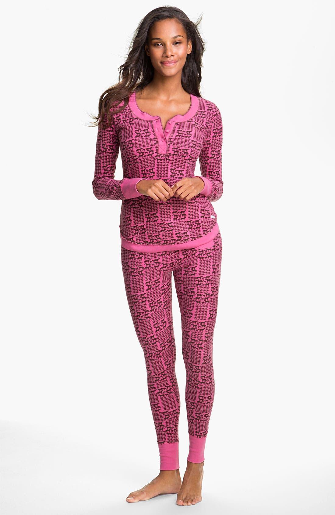Main Image - Kensie 'Quite the Character' Thermal Pajamas