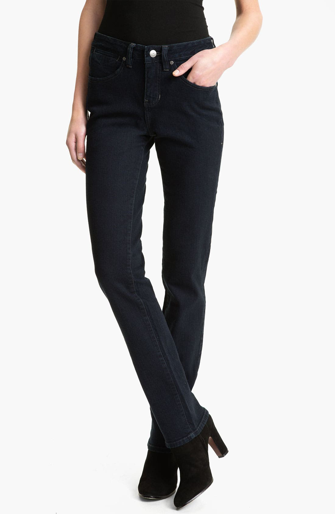 Alternate Image 1 Selected - Jag Jeans 'Donovan' Straight Leg Jeans (After Midnight) (Petite)