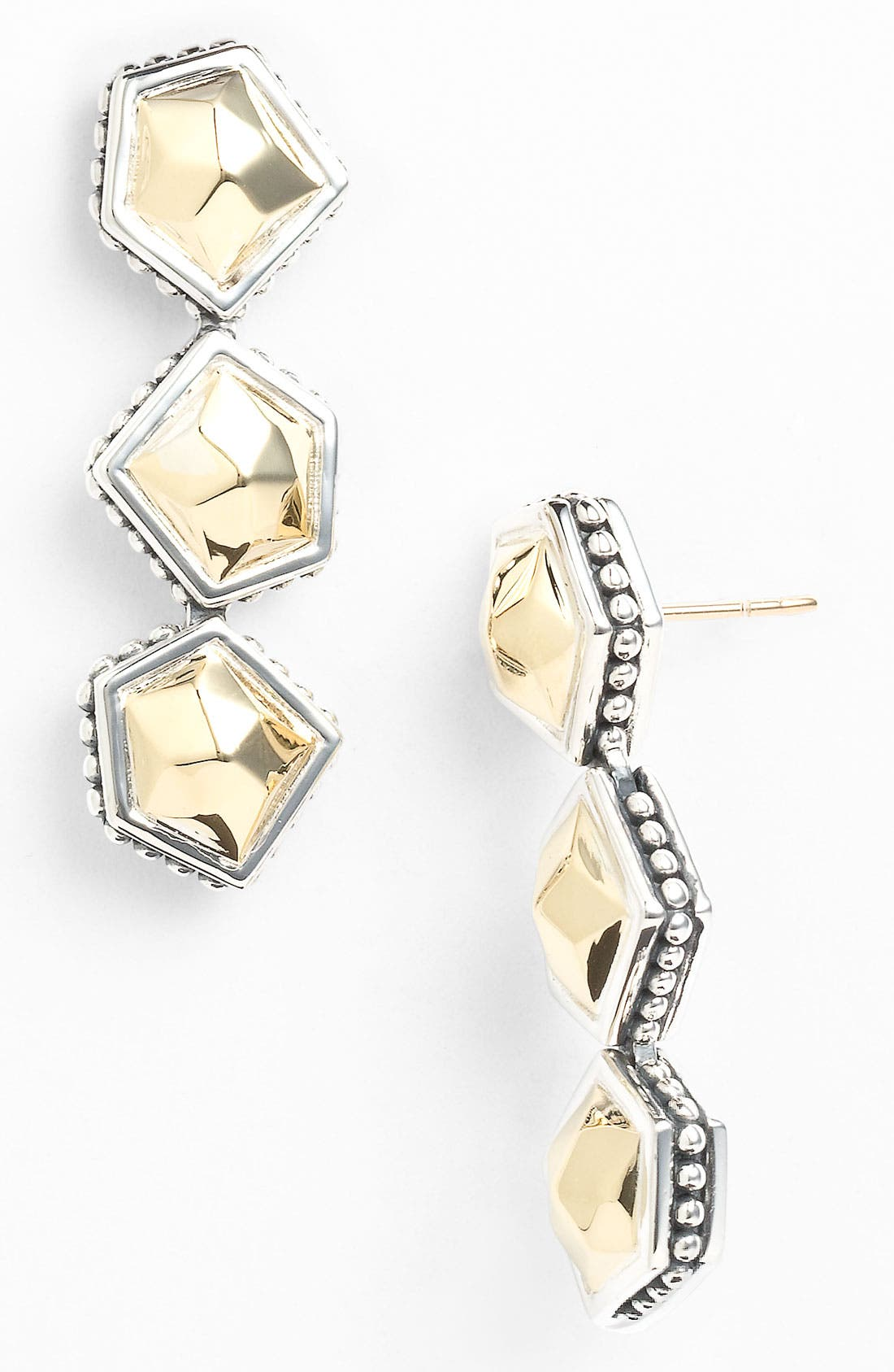 Alternate Image 1 Selected - LAGOS 'Rocks' Triple Angled Drop Earrings