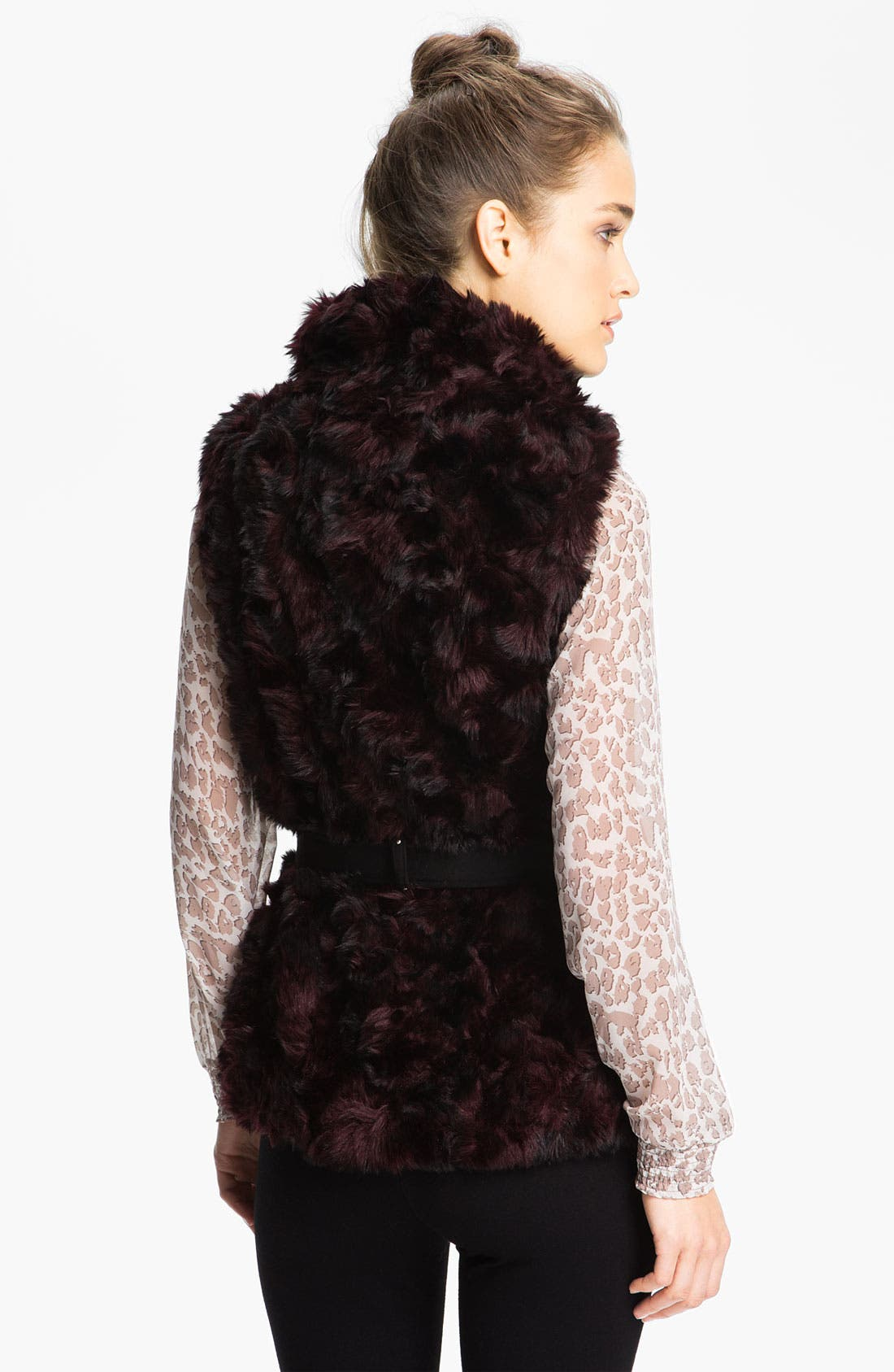 Alternate Image 2  - Miss Sixty Belted Faux Fur Vest