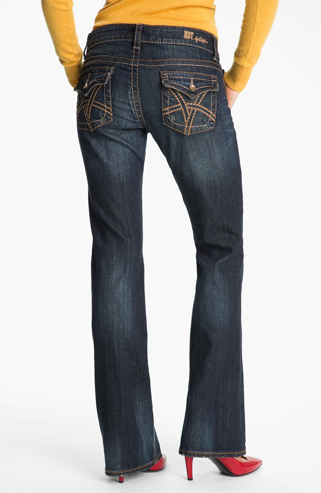 Alternate Image 3  - KUT from the Kloth 'Kate' Bootcut Jeans (Proud) (Online Only)