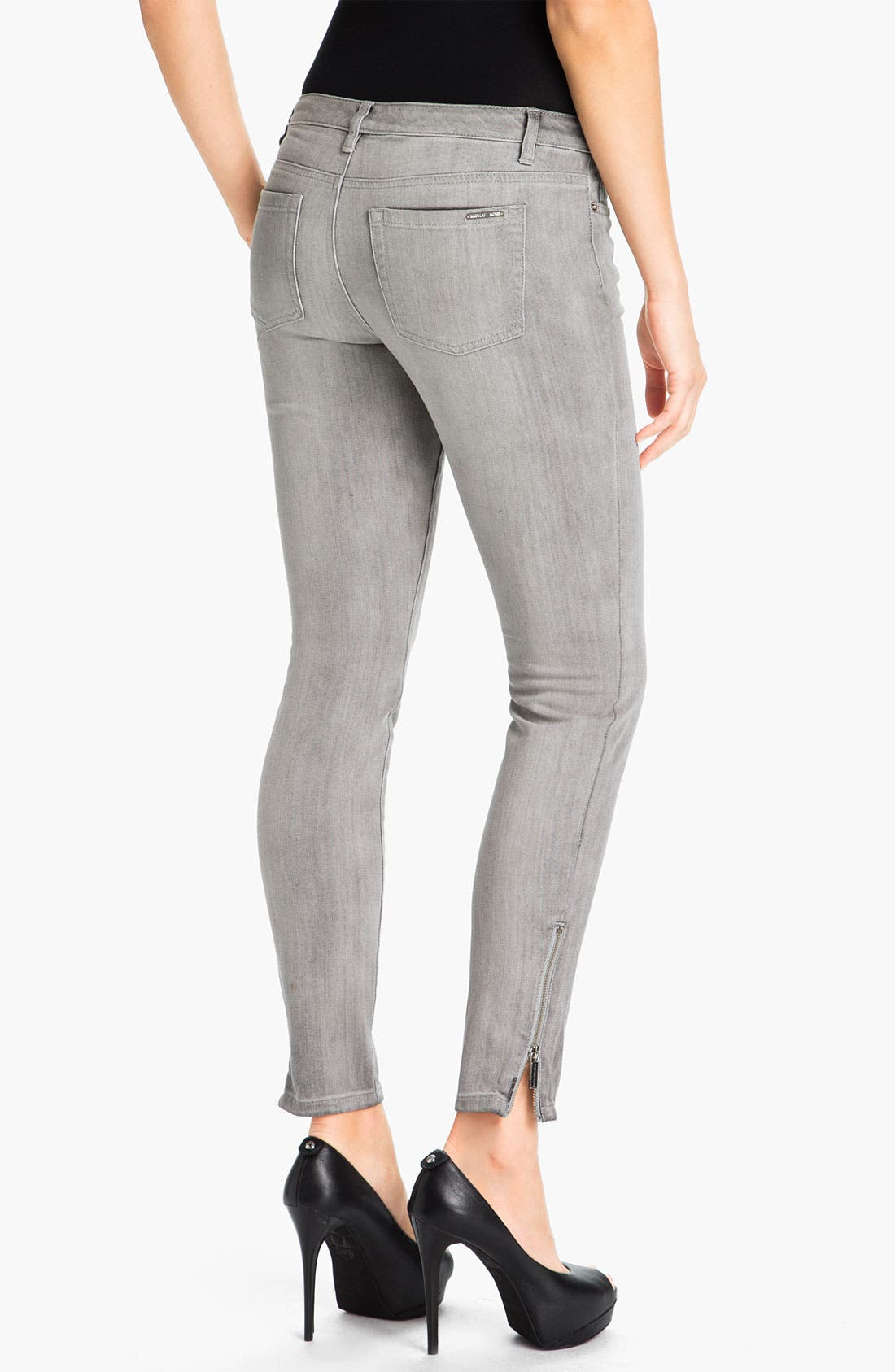 Alternate Image 2  - MICHAEL Michael Kors Skinny Ankle Zip Jeans
