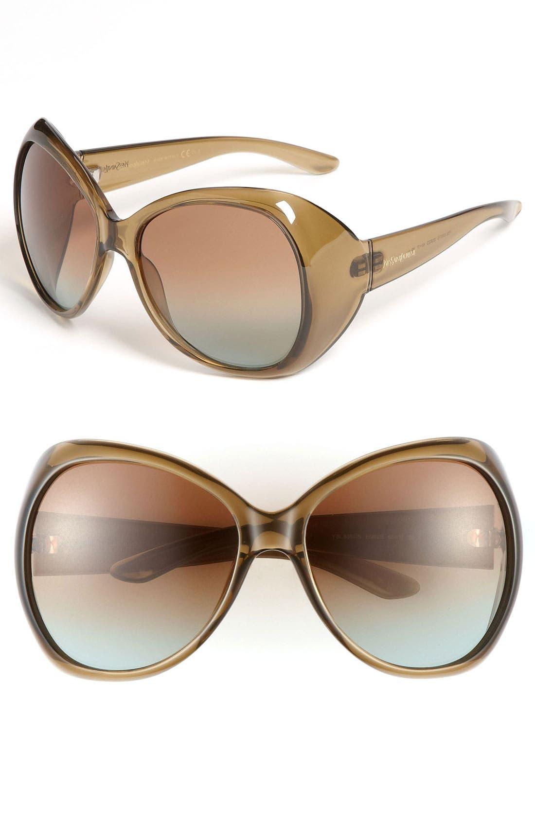 Main Image - Yves Saint Laurent Oversized Sunglasses