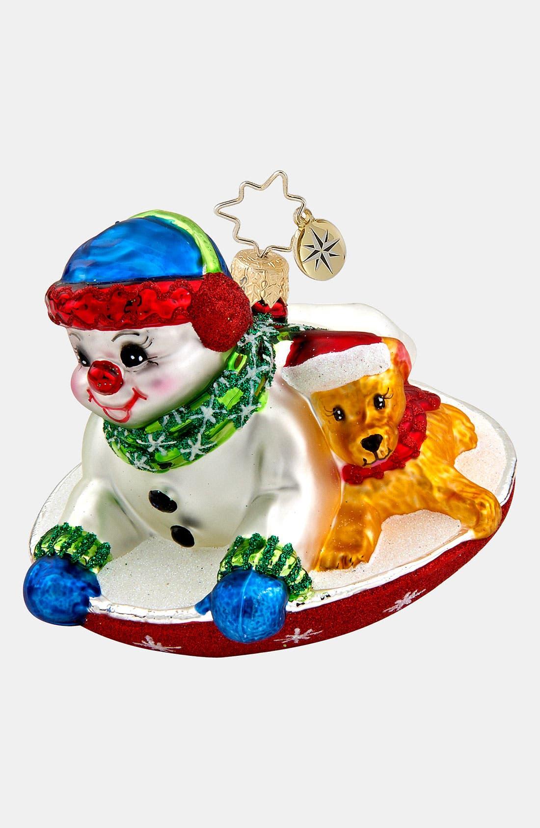 Main Image - Christopher Radko 'Snowdrift Sleigh Ride' Ornament