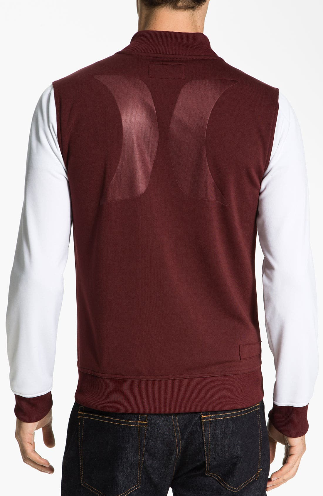 Alternate Image 2  - Hurley 'Velocity' Fleece Varsity Jacket