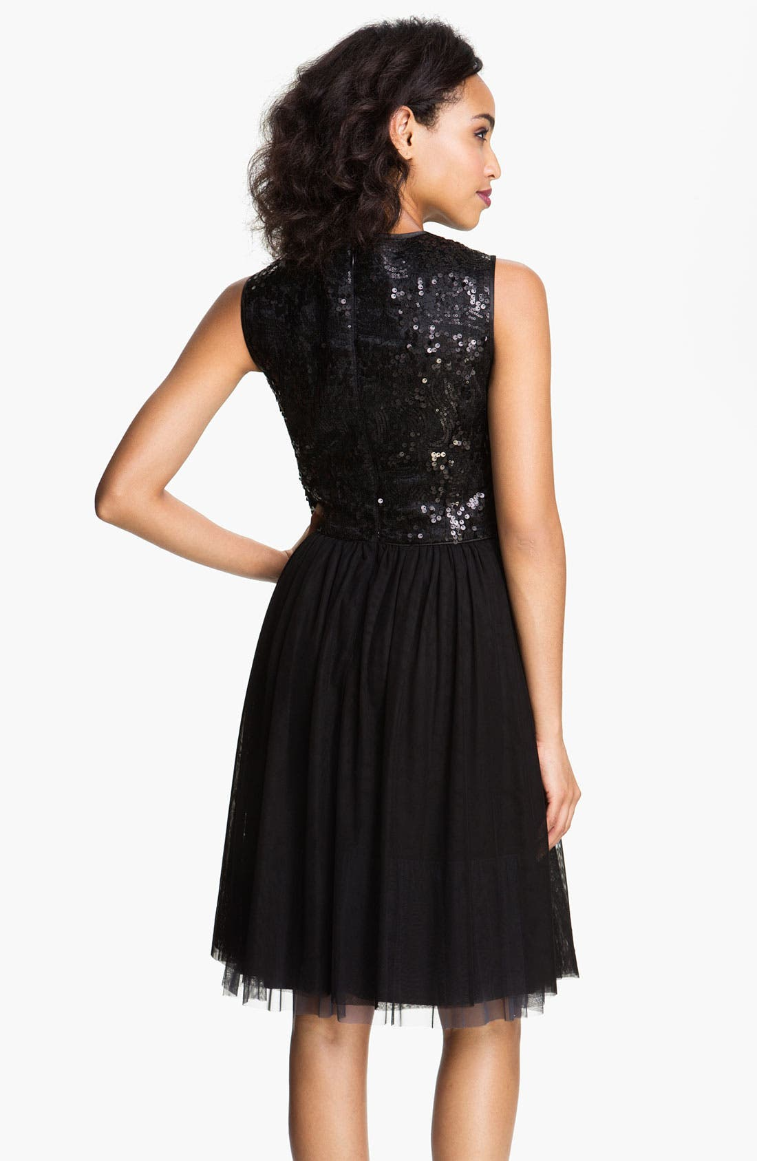 Alternate Image 2  - Maggy London Sequin Bodice Fit & Flare Dress