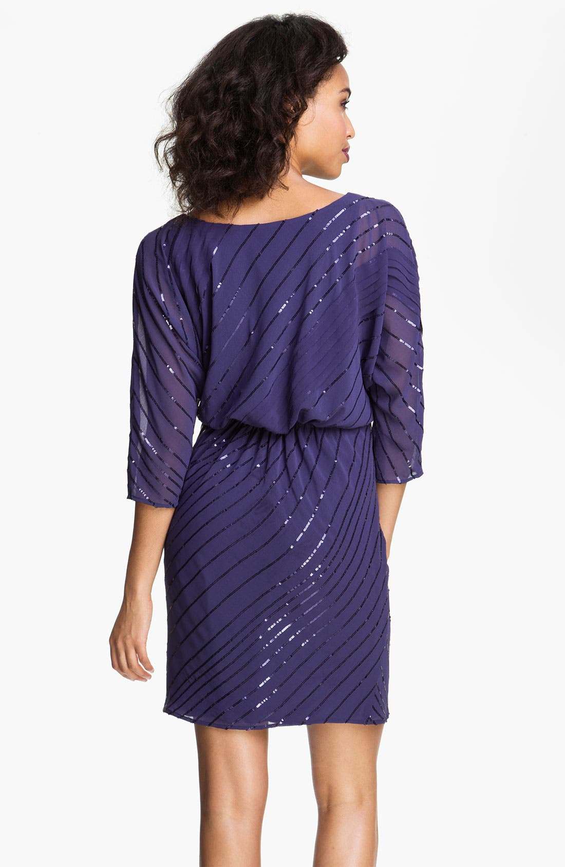 Alternate Image 2  - Vince Camuto Sequin Stripe Chiffon Dress