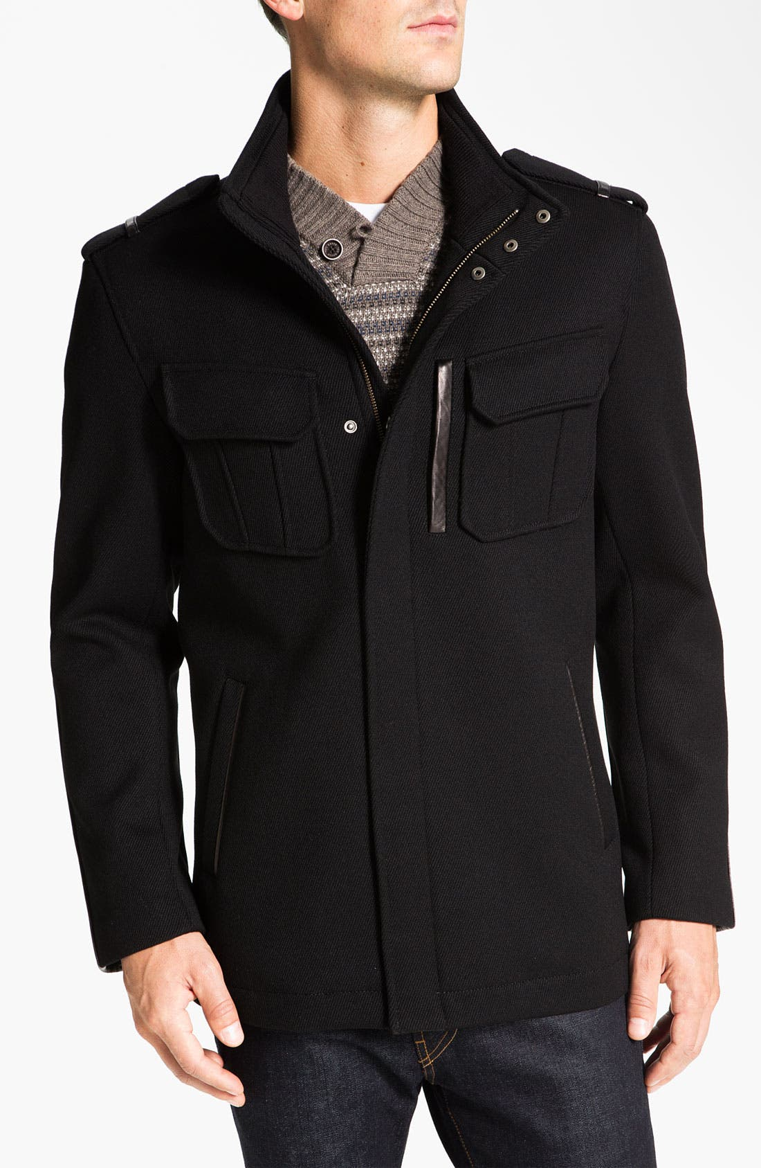 Alternate Image 1  - Cole Haan Twill Military Jacket