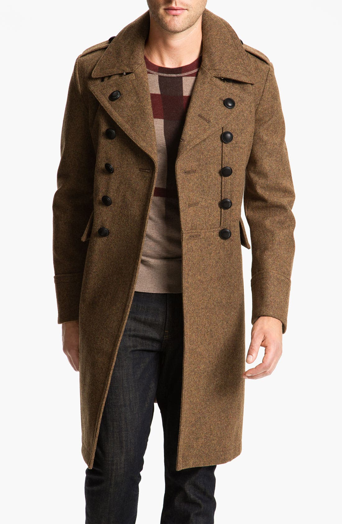 Alternate Image 1 Selected - Burberry Brit Wool Blend Trench Coat
