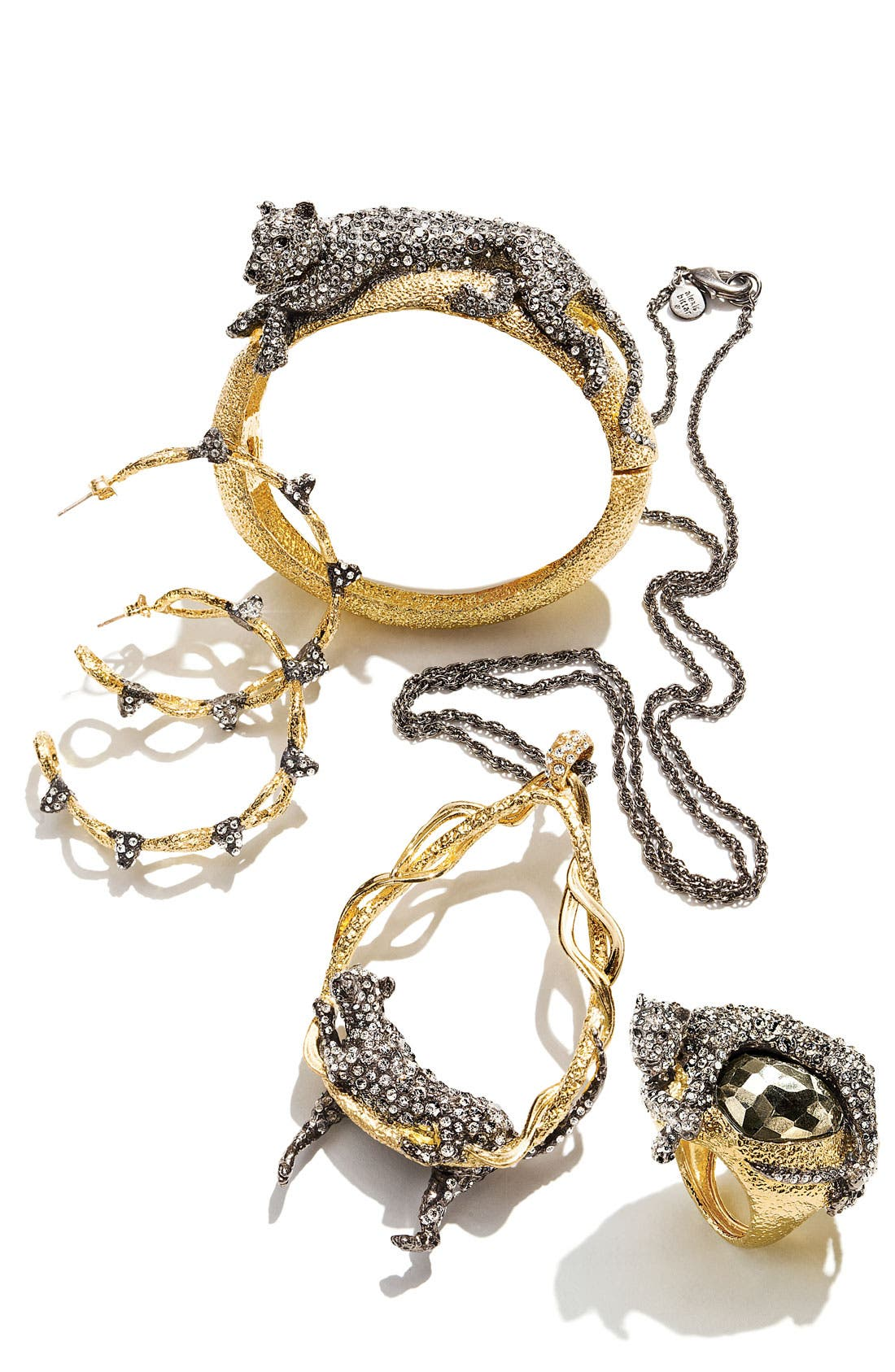 Alternate Image 3  - Alexis Bittar 'Elements - Siyabona' Spiked Woven Hoop Earrings