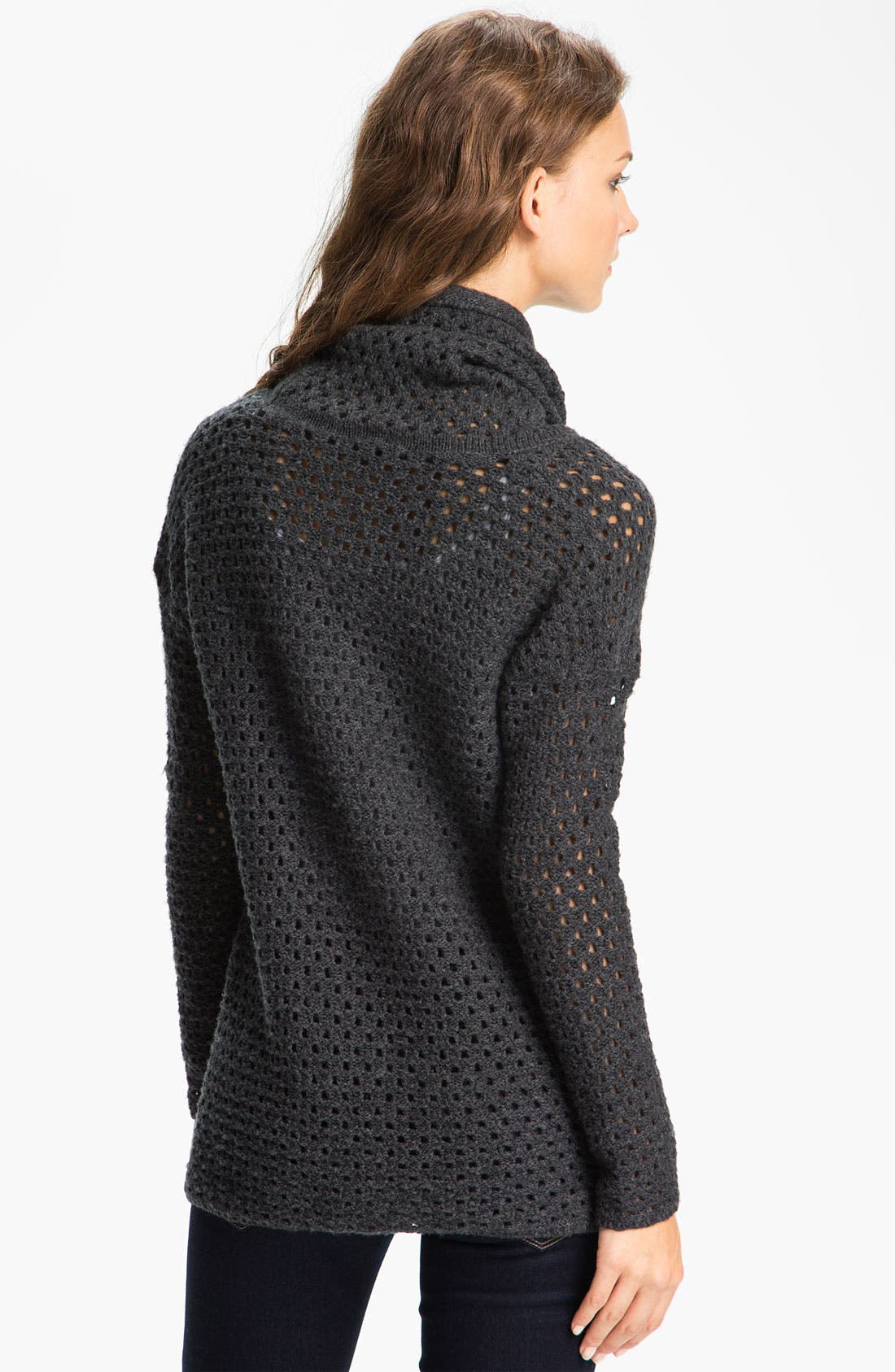 Alternate Image 2  - James Perse Mesh Knit Funnel Neck Sweater