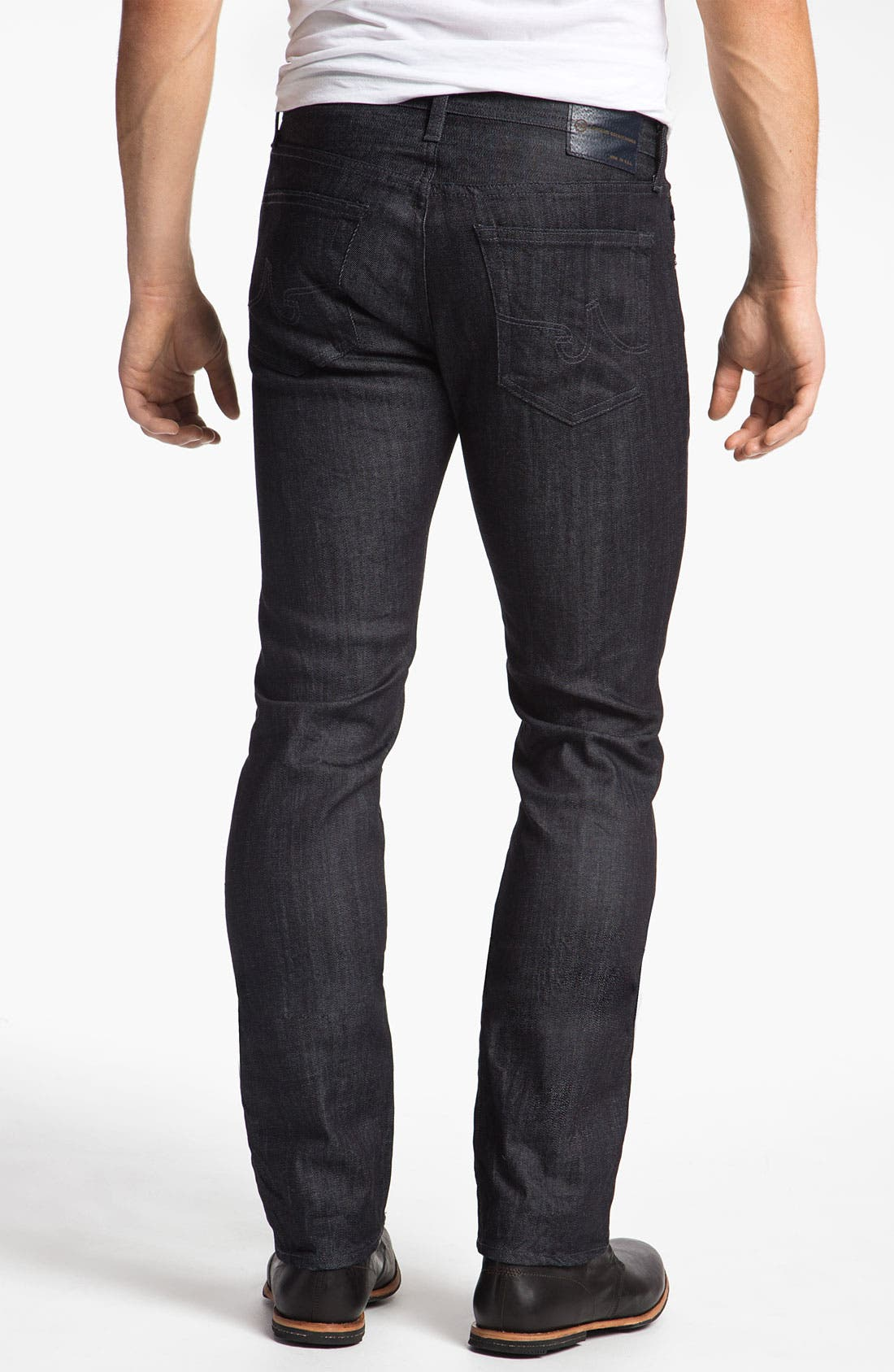 Alternate Image 2  - AG Jeans 'Matchbox' Slim Straight Leg Jeans (Baltic)(Save Now through 12/9)