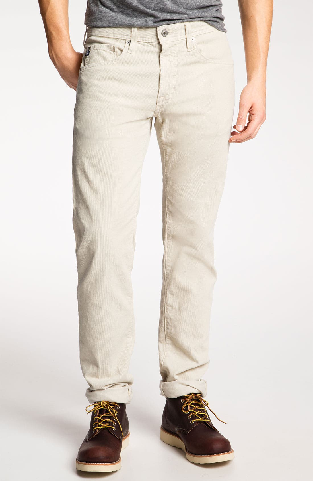 Alternate Image 1 Selected - AG Jeans 'Matchbox' Slim Straight Leg Corduroy Pants