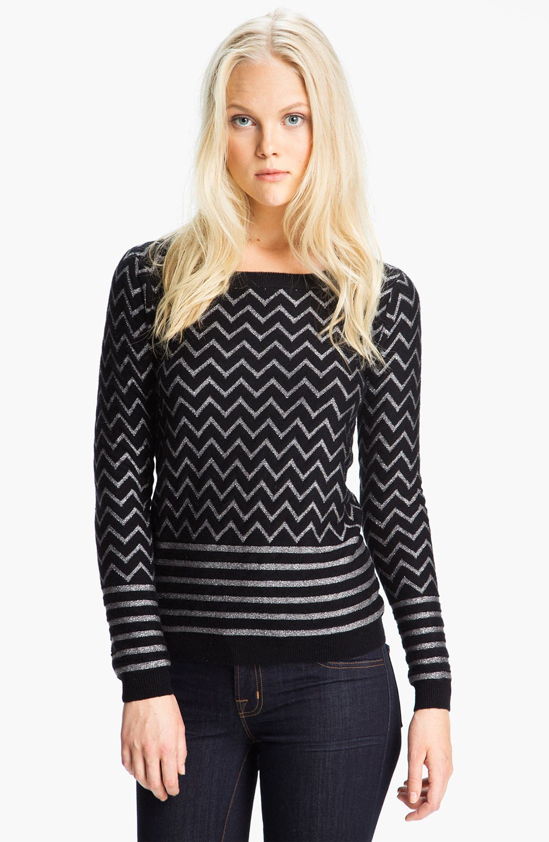 Alternate Image 1 Selected - Joie 'Hideaki' Metallic Zigzag Wool Sweater