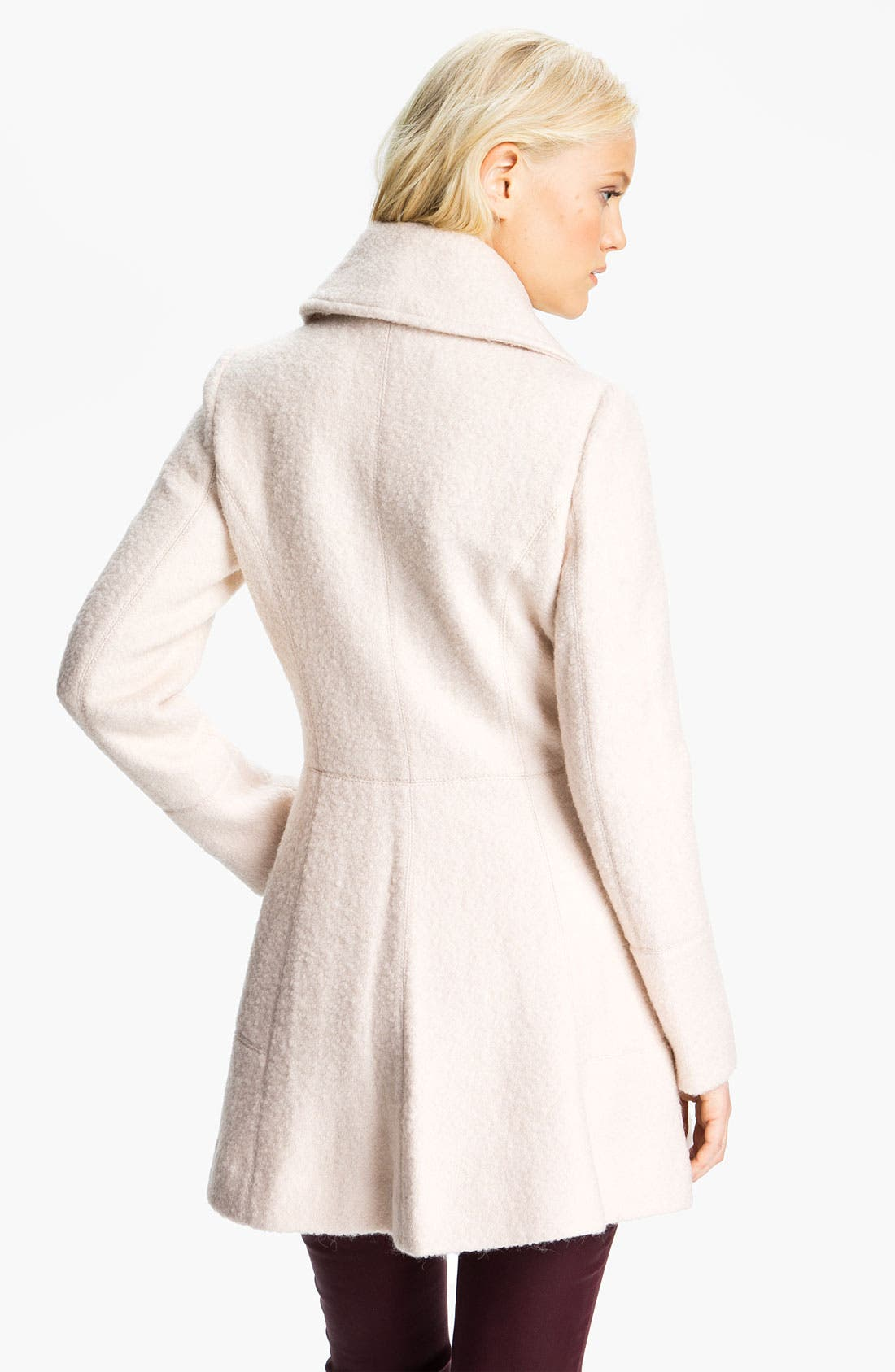 Alternate Image 2  - GUESS Asymmetrical Collar Bouclé Coat (Online Exclusive)