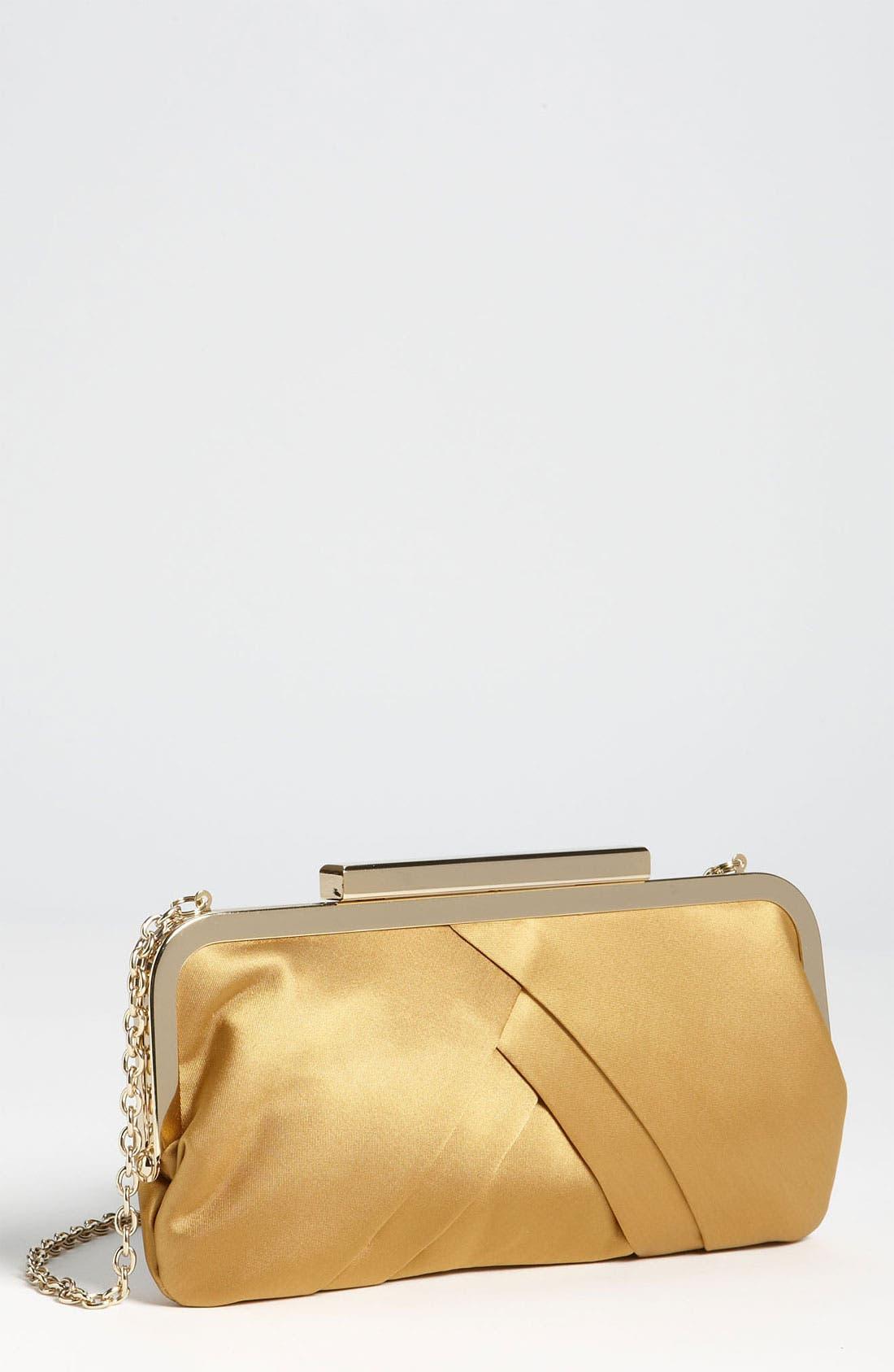 Main Image - Glint Pleated Frame Clutch