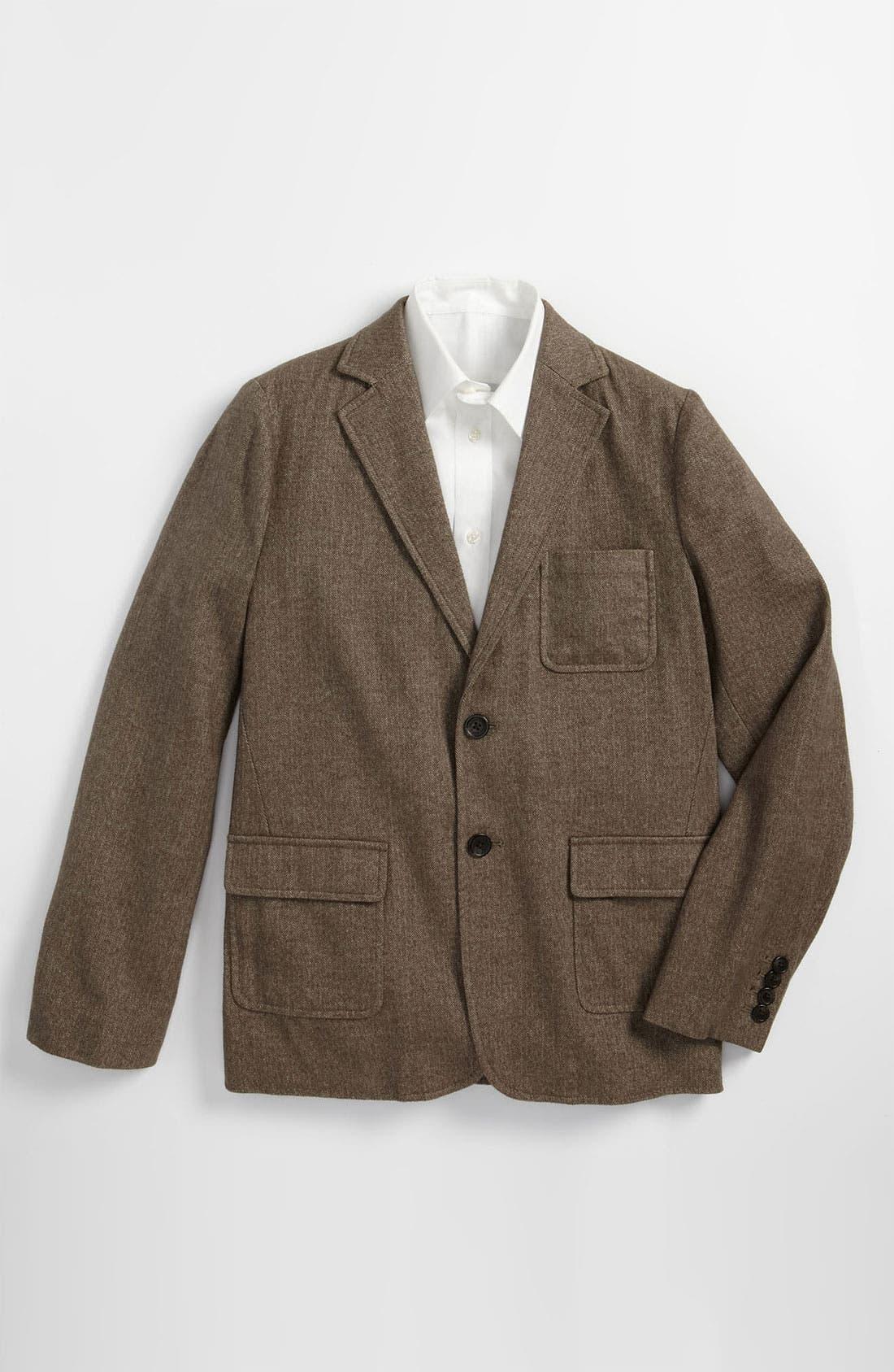 Main Image - Brooks Brothers Herringbone Sportcoat (Big Boys)